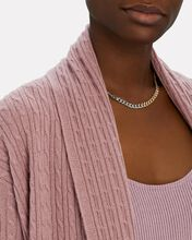 Rio Cable Knit Cashmere Duster Cardigan, ROSE, hi-res