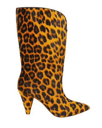 Leopard Calf Hair Boots, BROWN/LEOPARD, hi-res