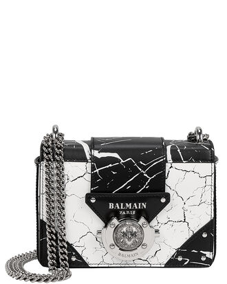 Ring Box Marble Shoulder Bag, BLACK/WHITE/MARBLE, hi-res