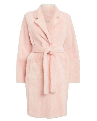 Lacon Reversible Shearling Coat, BLUSH, hi-res