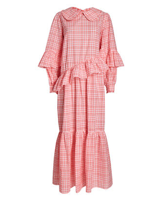 Teagan Ruffled Plaid Dress, MULTI, hi-res