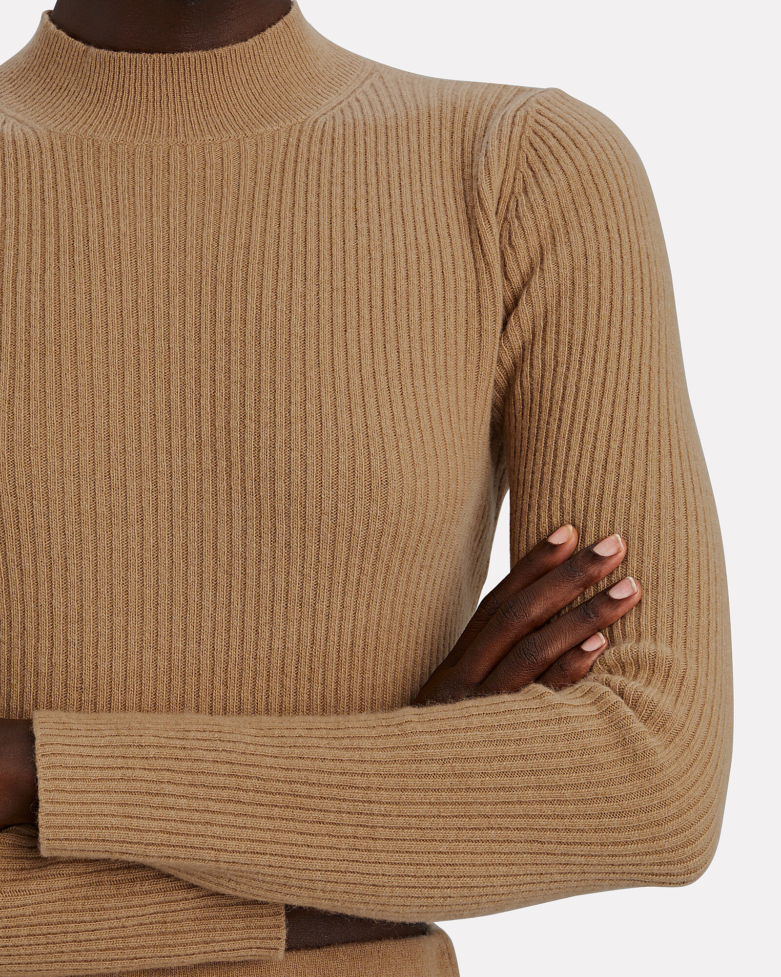 Enny Cropped Wool-Cashmere Sweater, BEIGE, hi-res