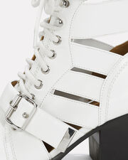 Rylee Cutout White Ankle Boots, WHITE/BLACK, hi-res