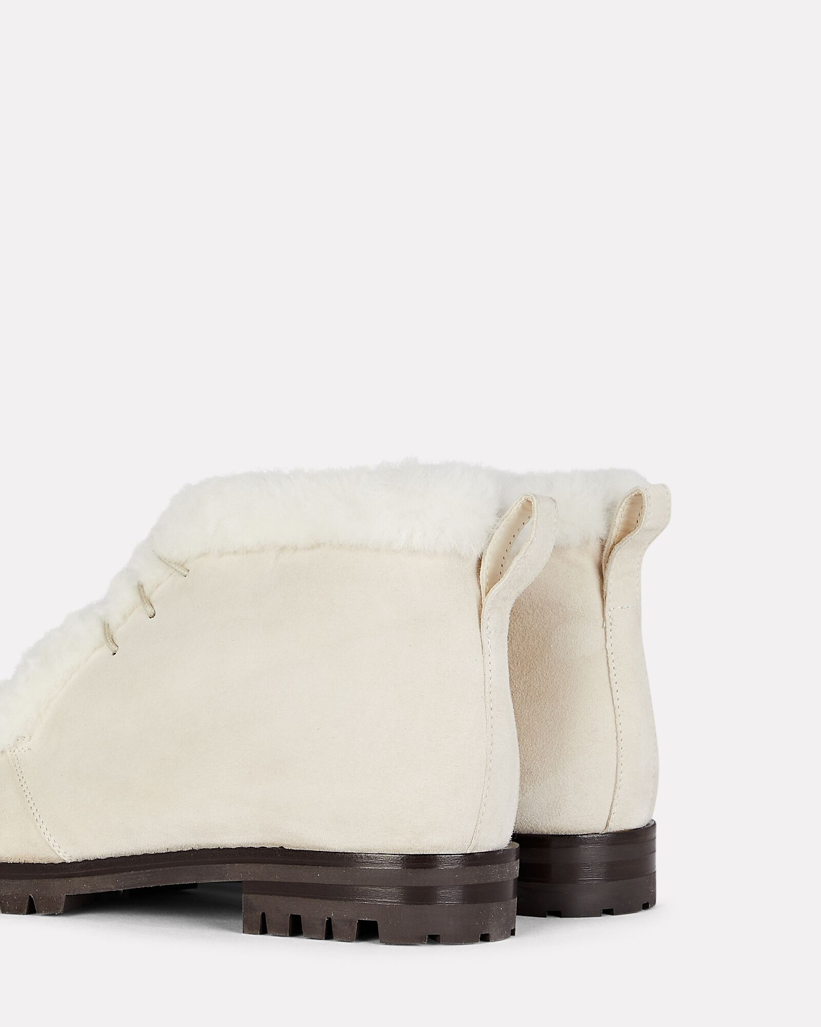 Mircus Shearling-Trimmed Ankle Boots, IVORY, hi-res
