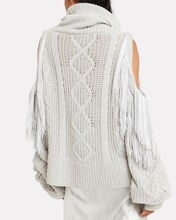 Lawrence Cold Shoulder Sweater, IVORY, hi-res