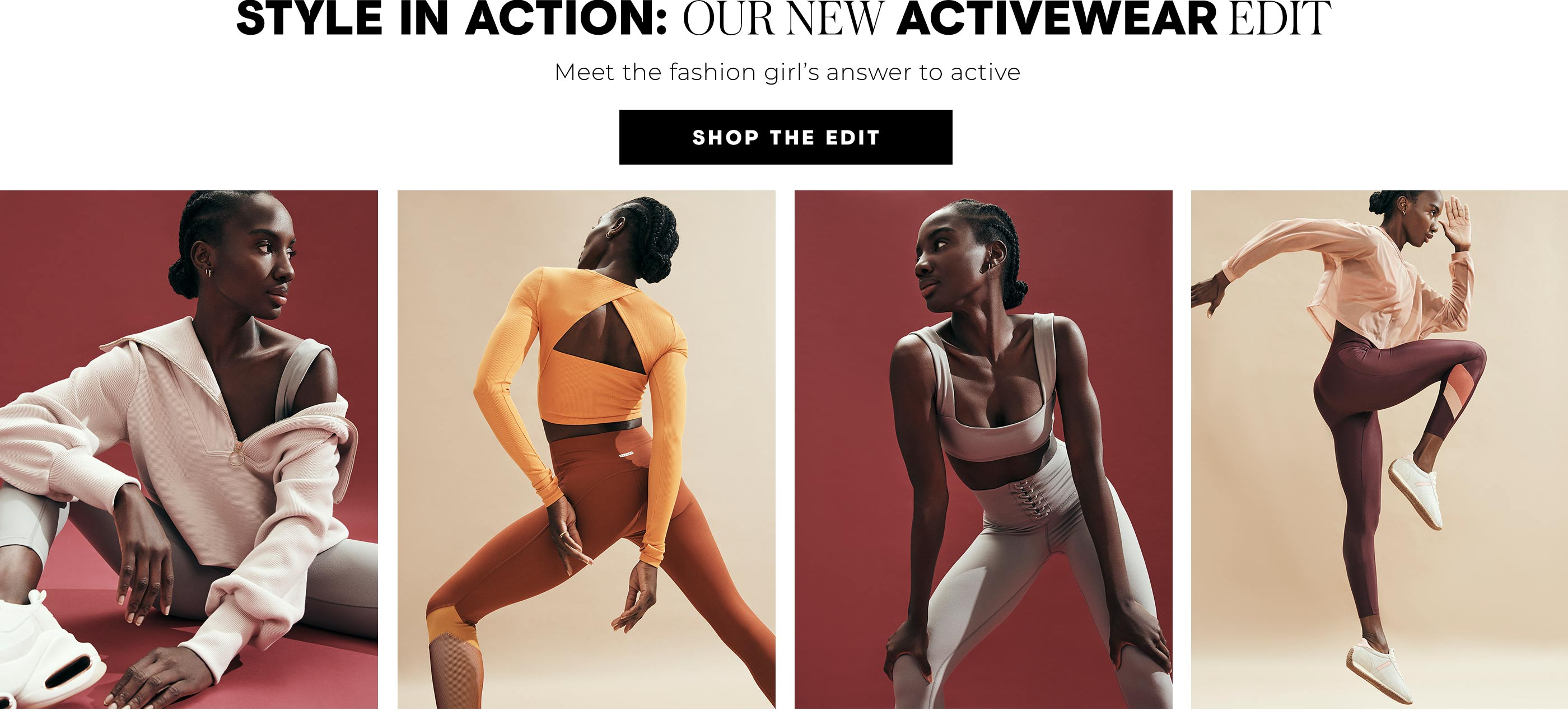 Style In Action: Our New Activewear Edit Meet the fashion girl's answer to active