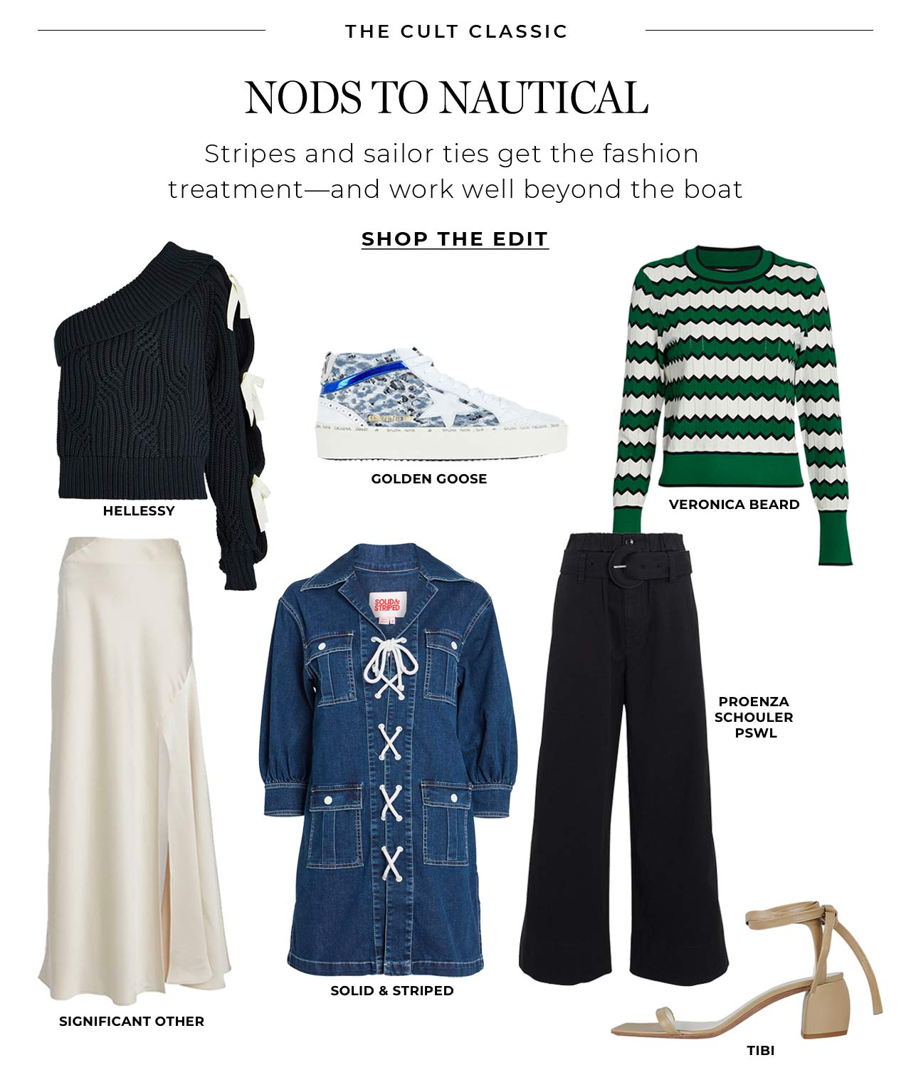Stripes and sailor ties get the fashion treatment – and these nods to nautical work well beyond the boat