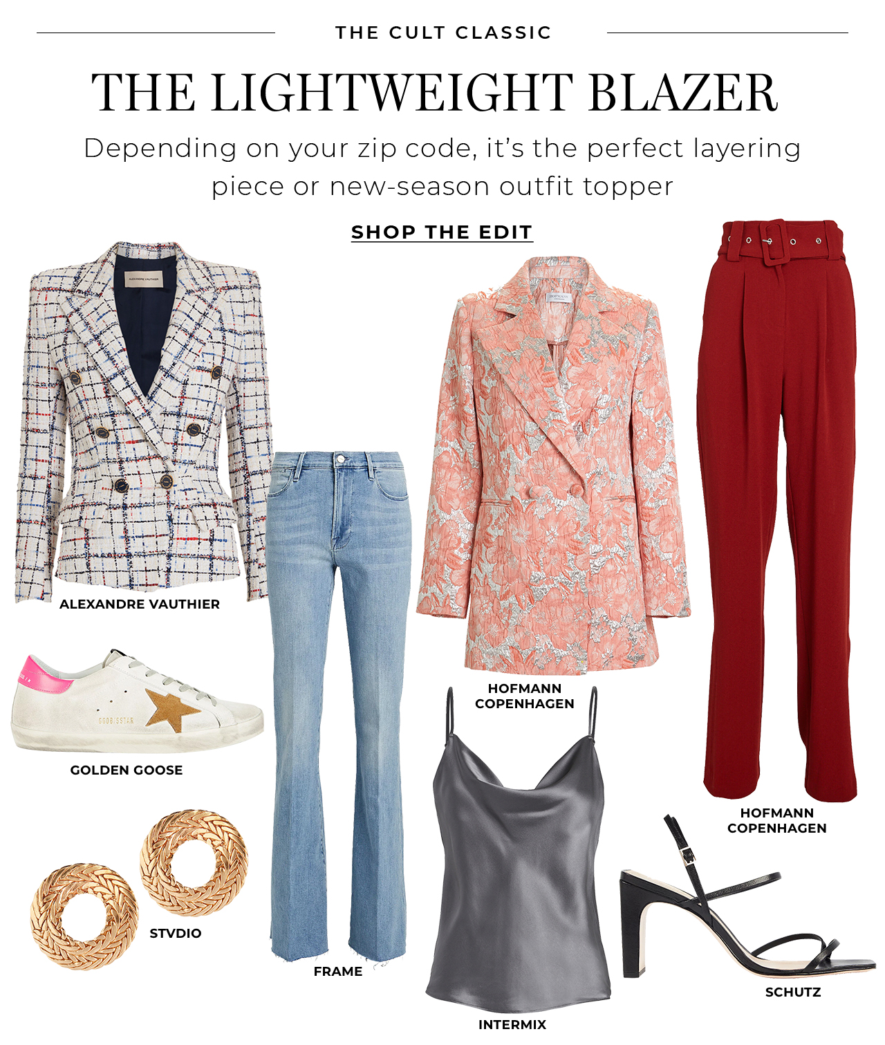 The lightweight blazer is the perfect layering piece