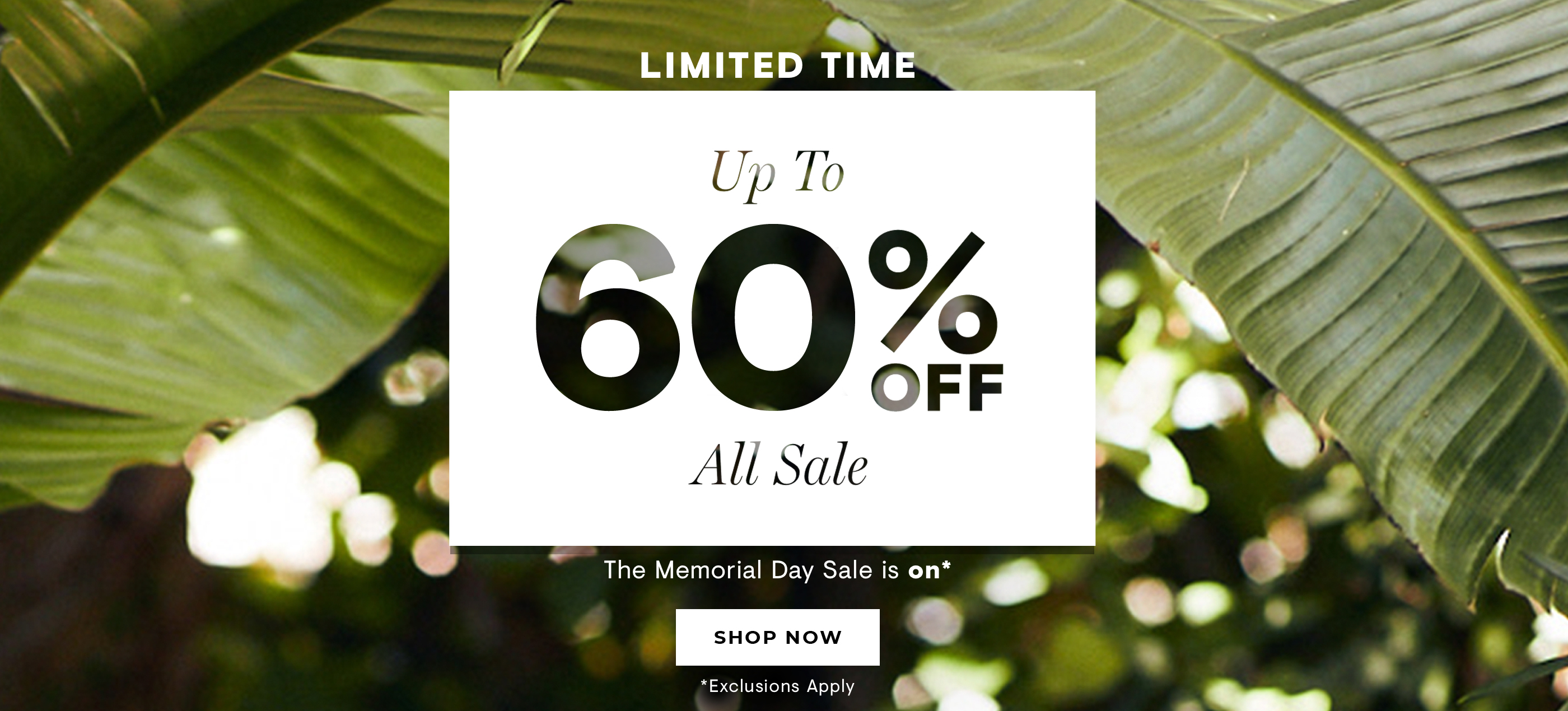The Memorial Day Sale