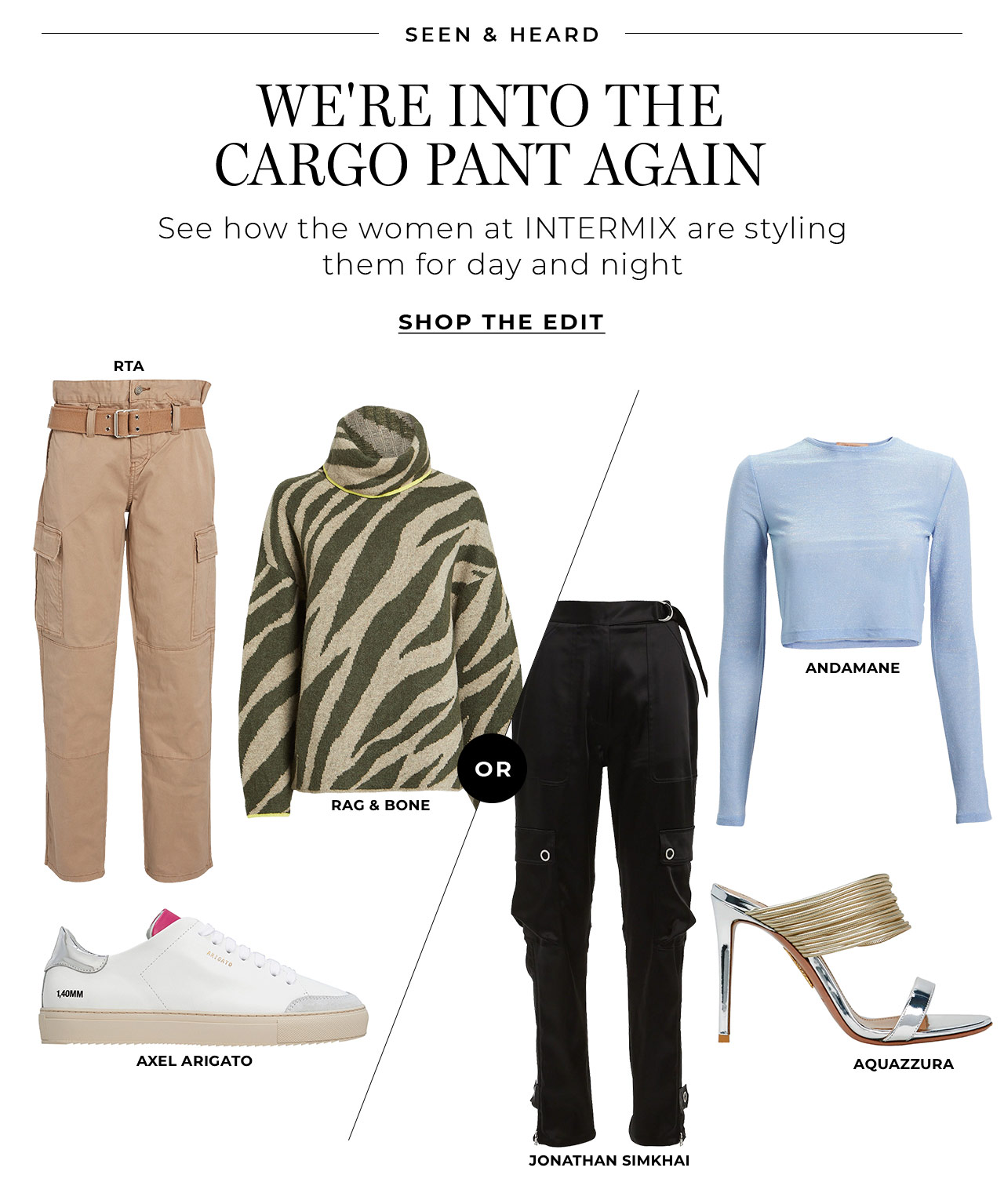 We're into the cargo pant again