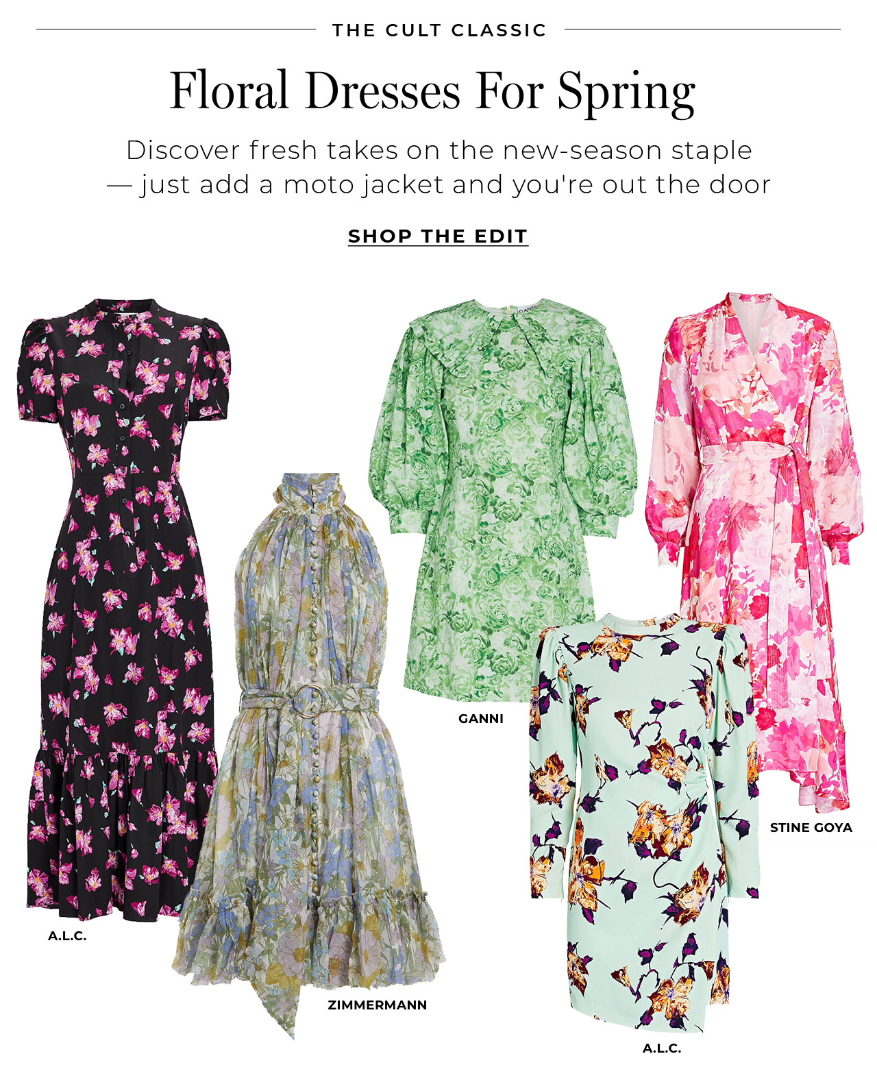 Discover floral dresses for spring – just add a moto jacket and you're out the door