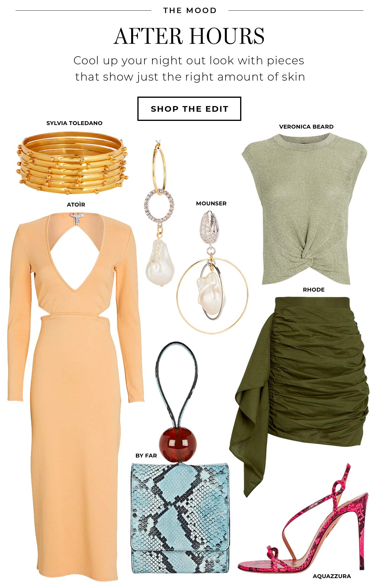 Cool up your night out look with pieces that show just the right amoutn of skin