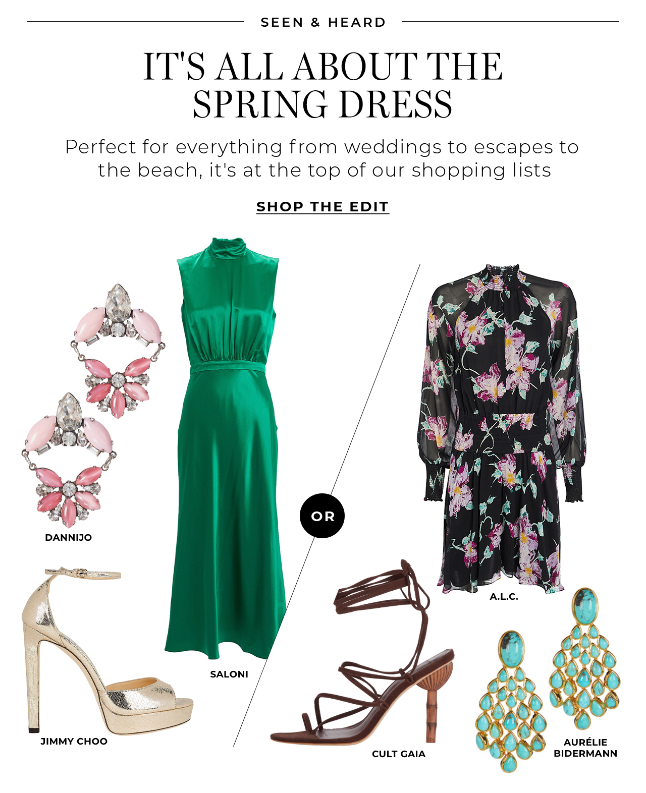 It's all about the spring dress