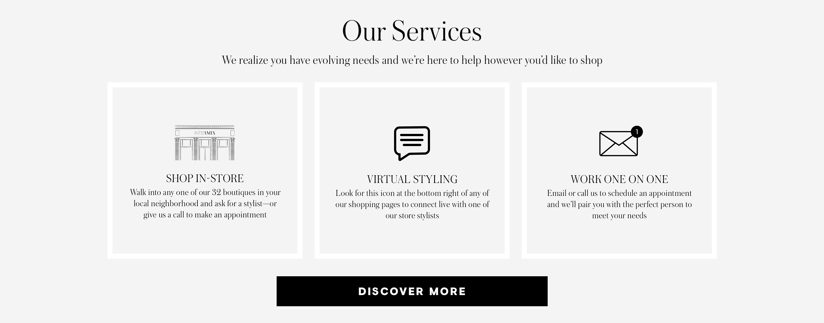 """Our Services Effortless Store Shopping Virtual Styling  Work One On One"""