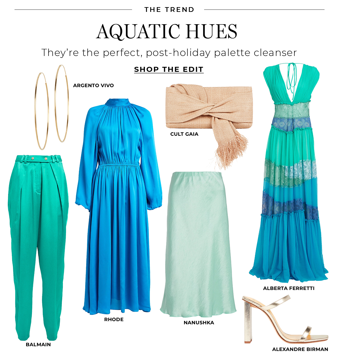 Aquatic hues are the perfect post-holiday palette cleanser