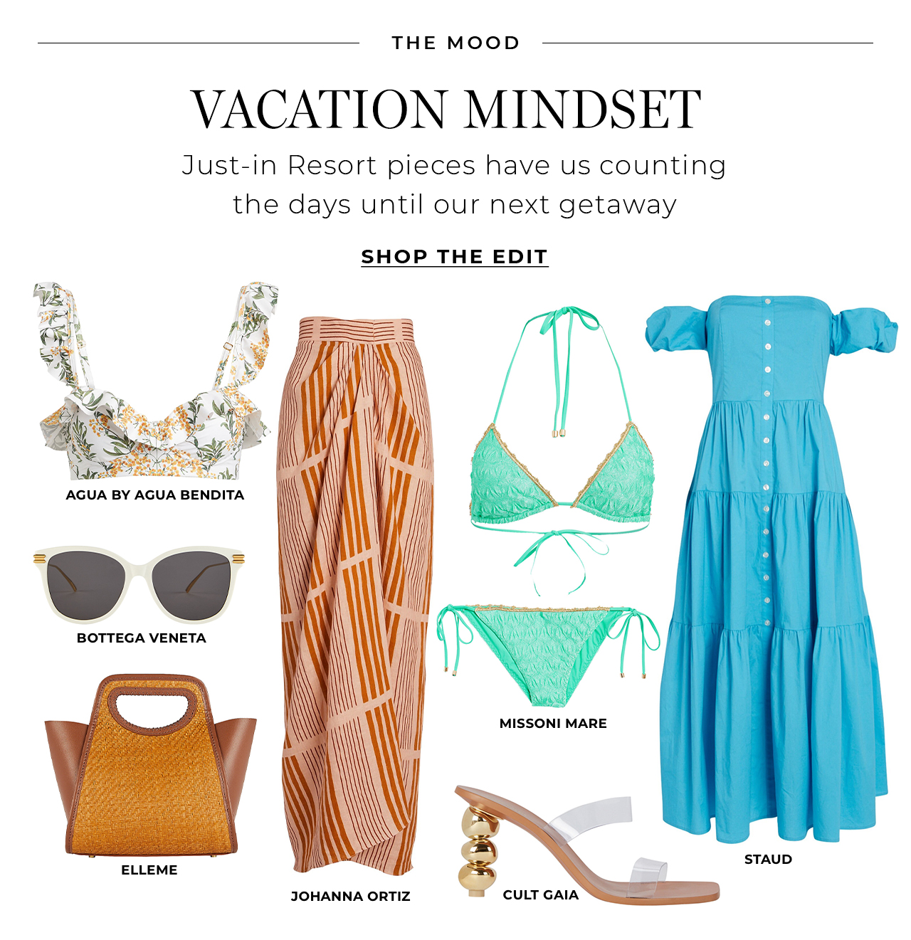 Just-in Resort pieces have us counting the days until our next getaway