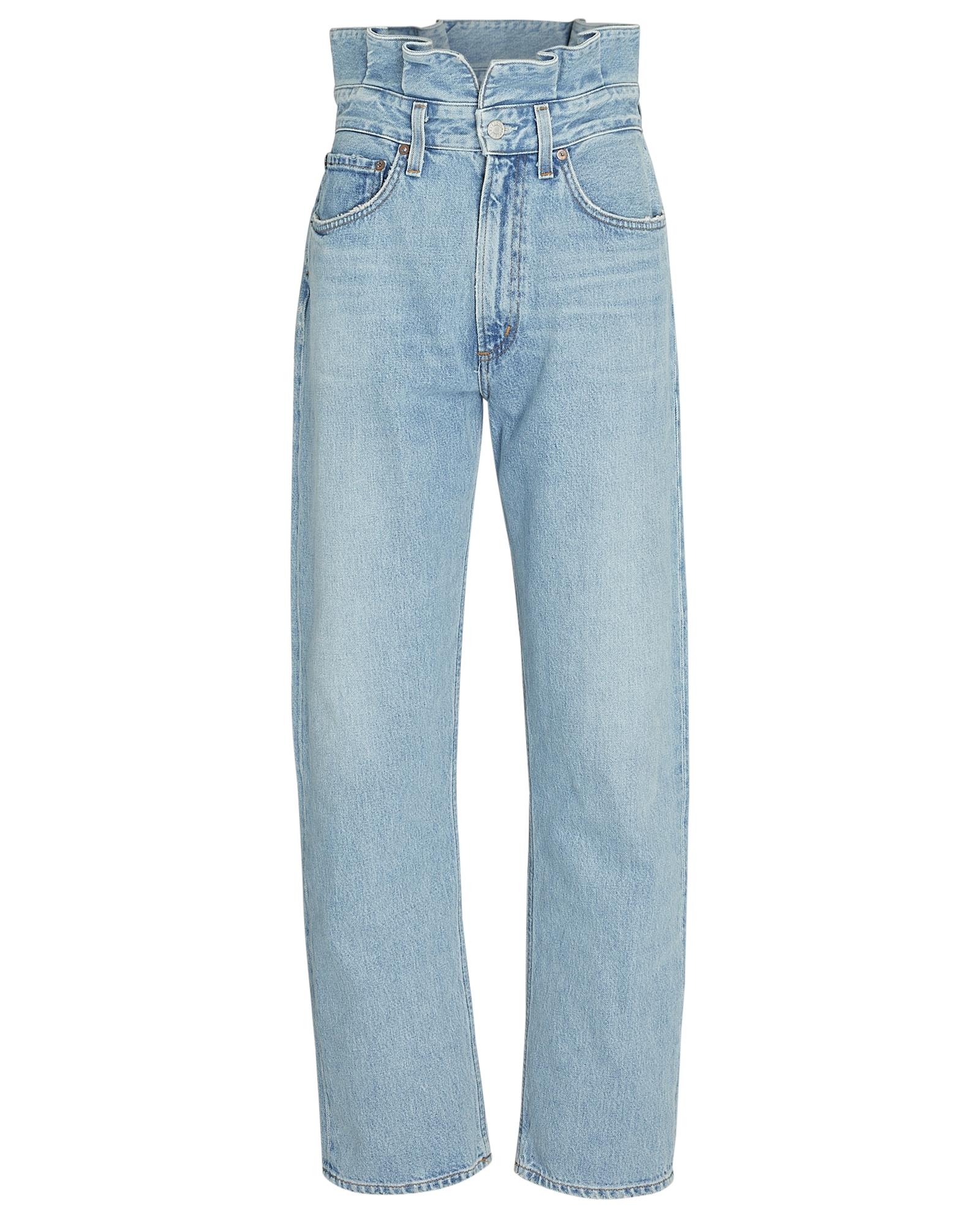 Agolde Pants Lettuce Waist Wide-Leg Jeans