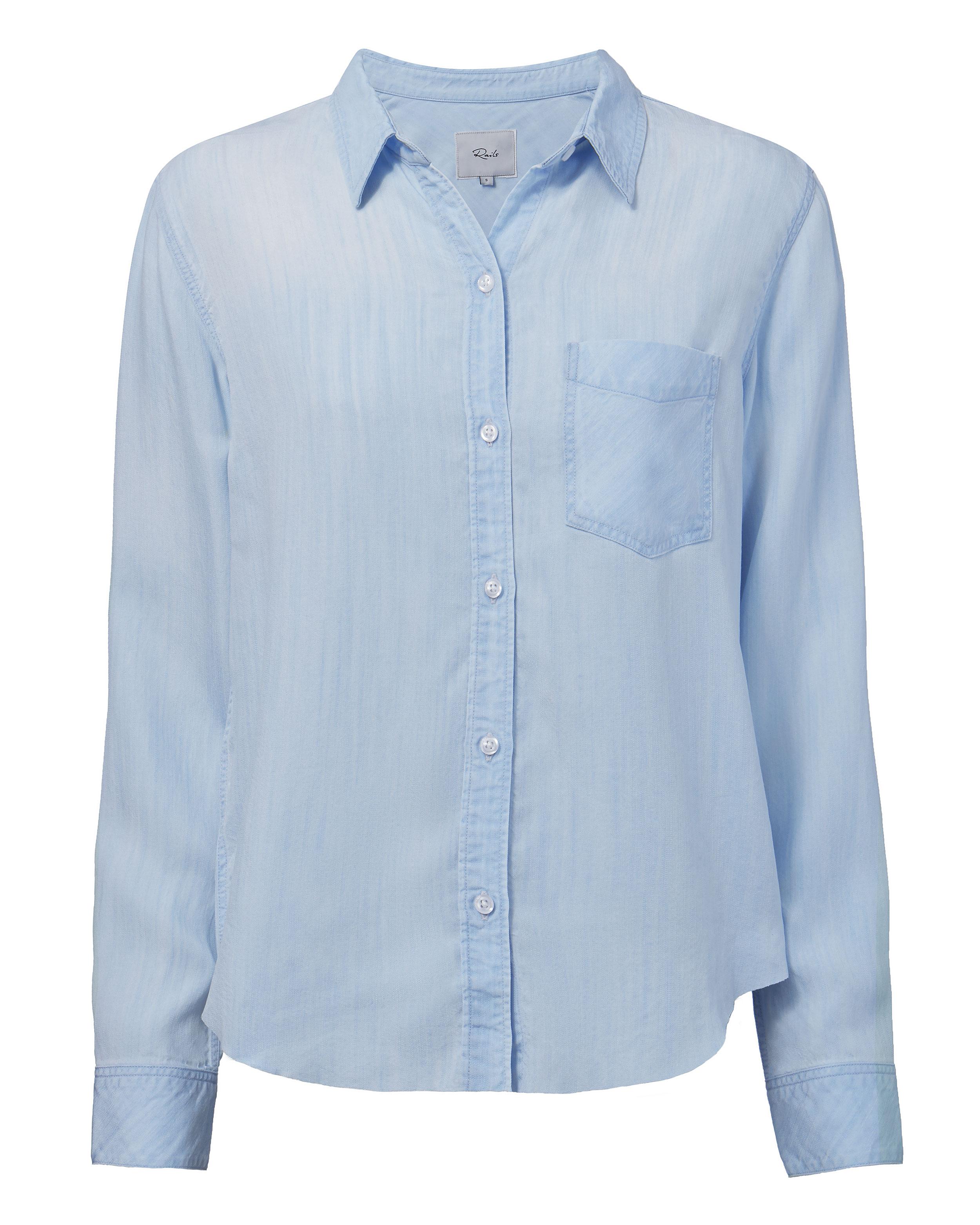 Ingrid Light Vintage Raw Hem Shirt by Rails