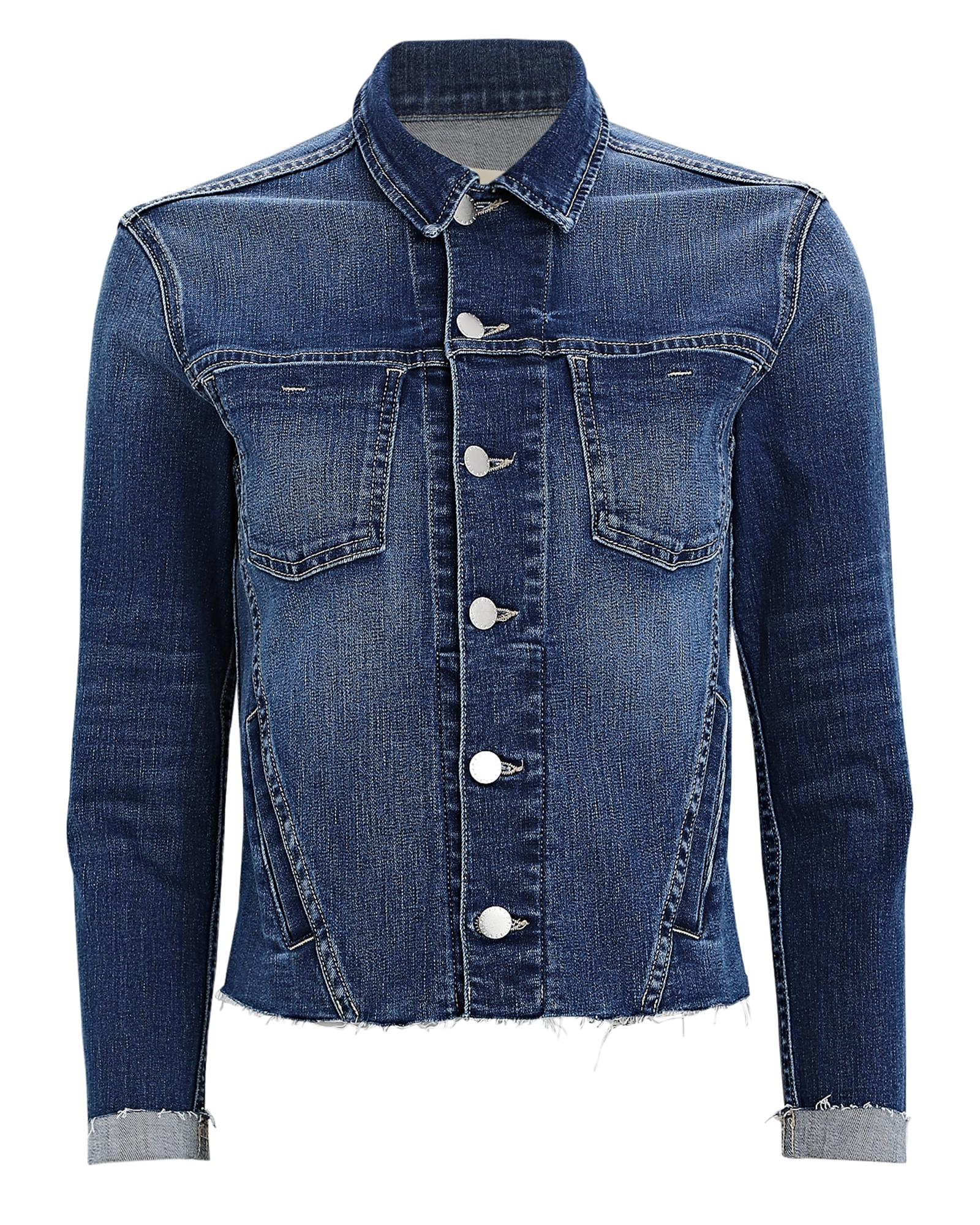 L Agence Janelle Cropped Denim Jacket