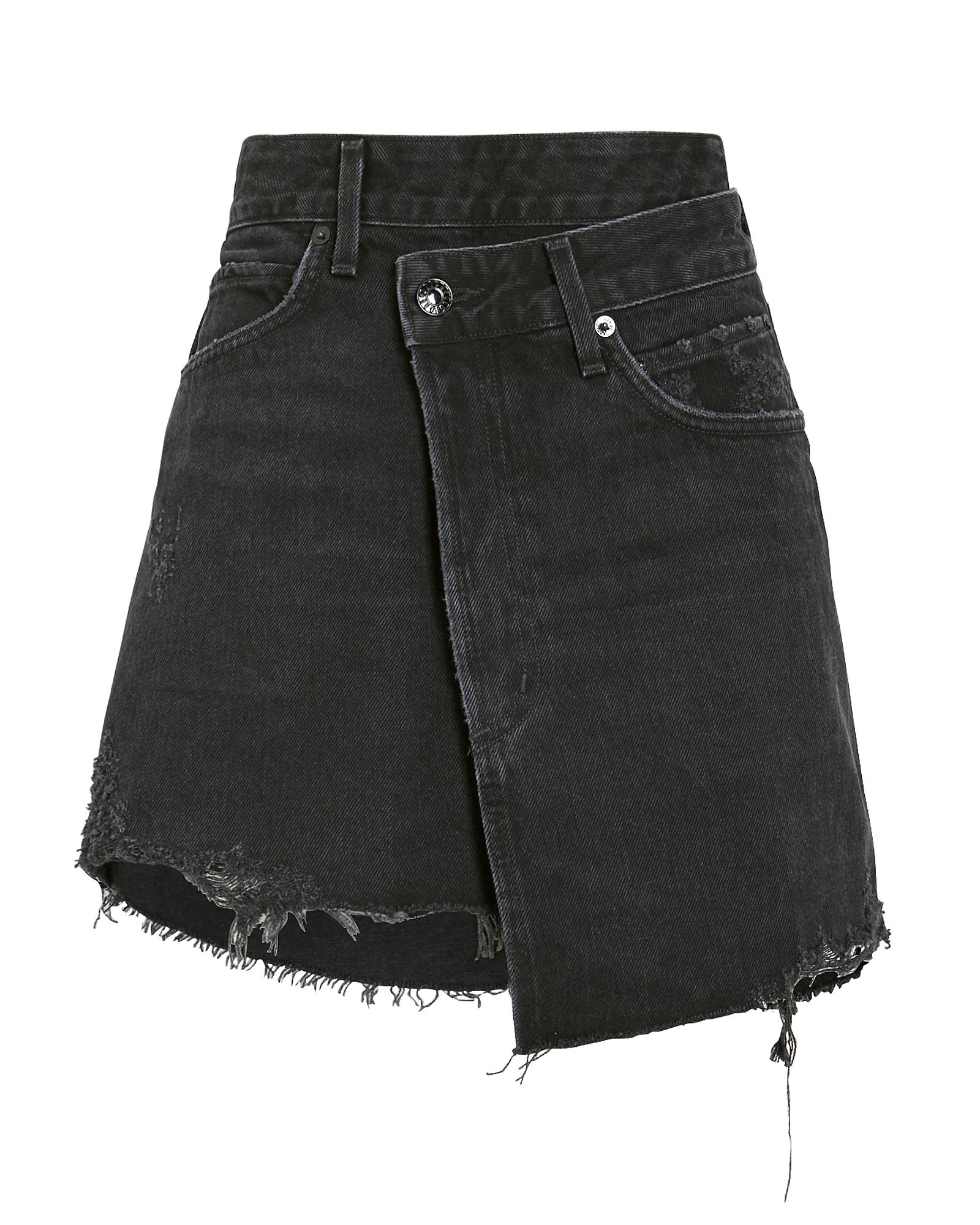 Agolde Skirts Criss Cross Denim Skirt