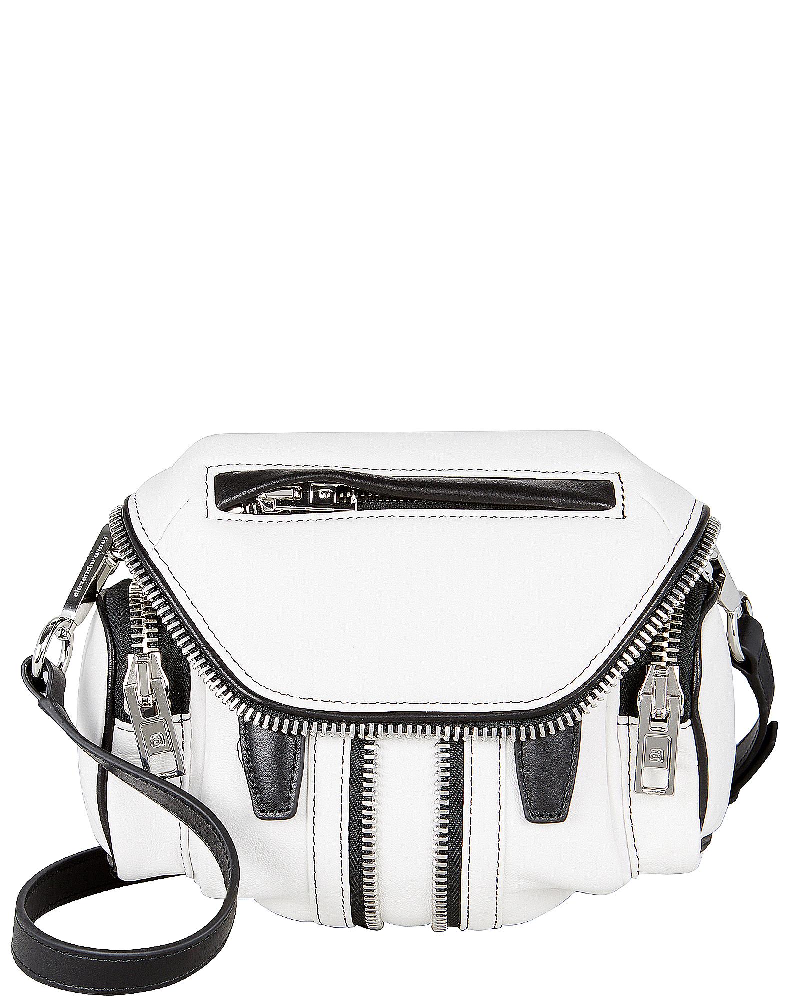 White Leather Micro Marti Handbag