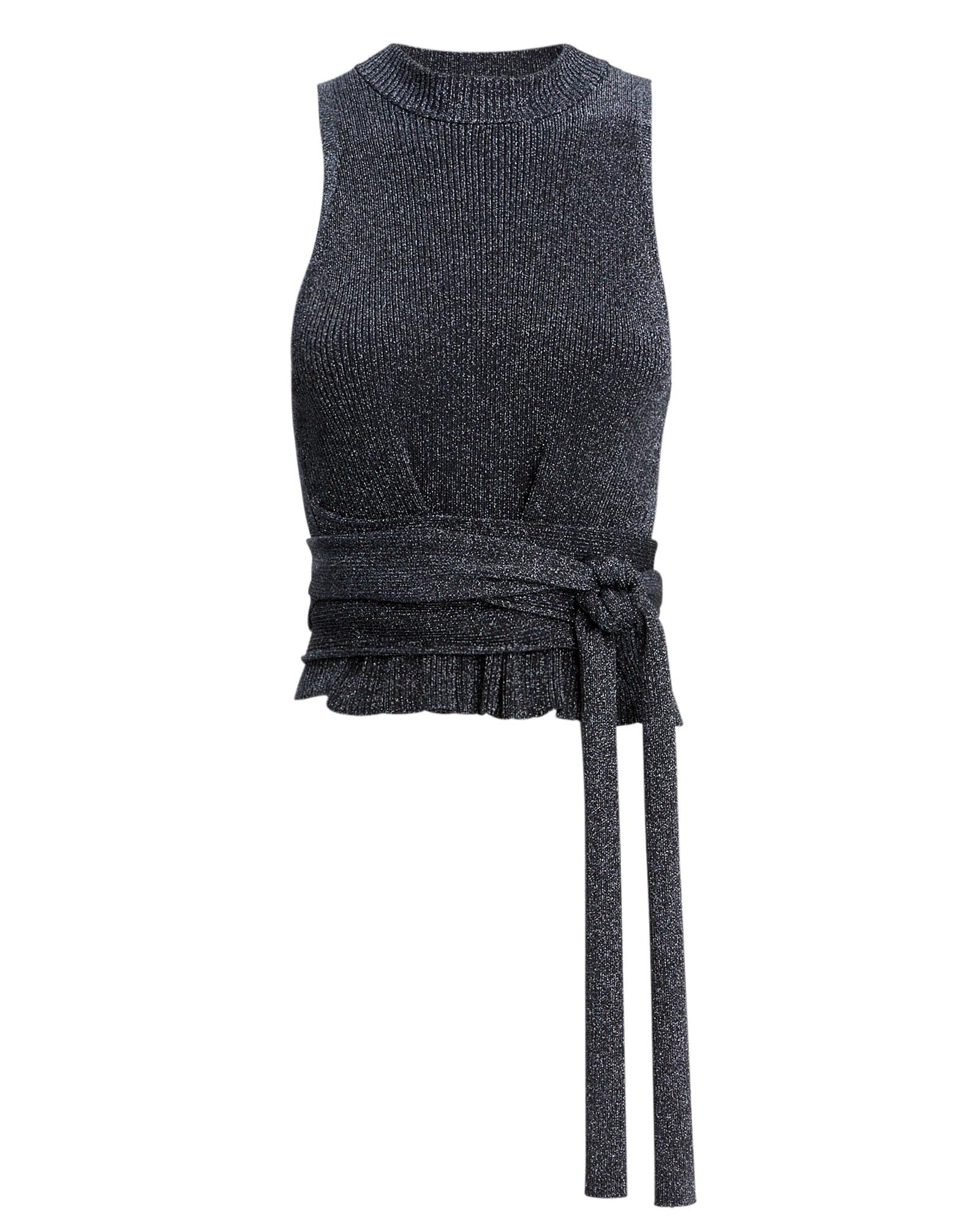PHILLIP LIM 3.1 Phiip Im Tie Waist Urex Sweater Tank Navy/Siver