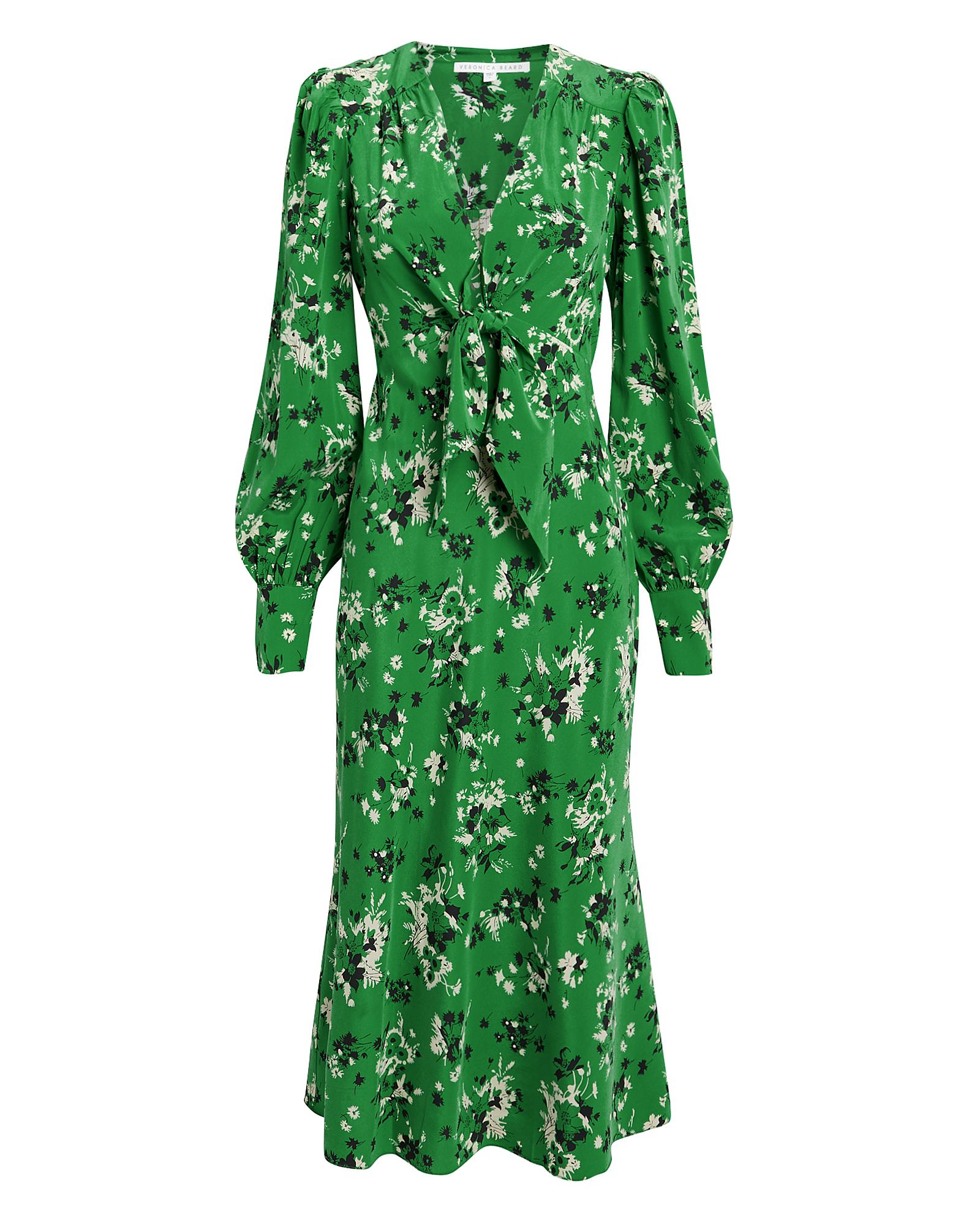 Veronica Beard Dresses VERONICA BEARD AMBER FLORAL MIDI DRESS  GREEN/FLORAL 8