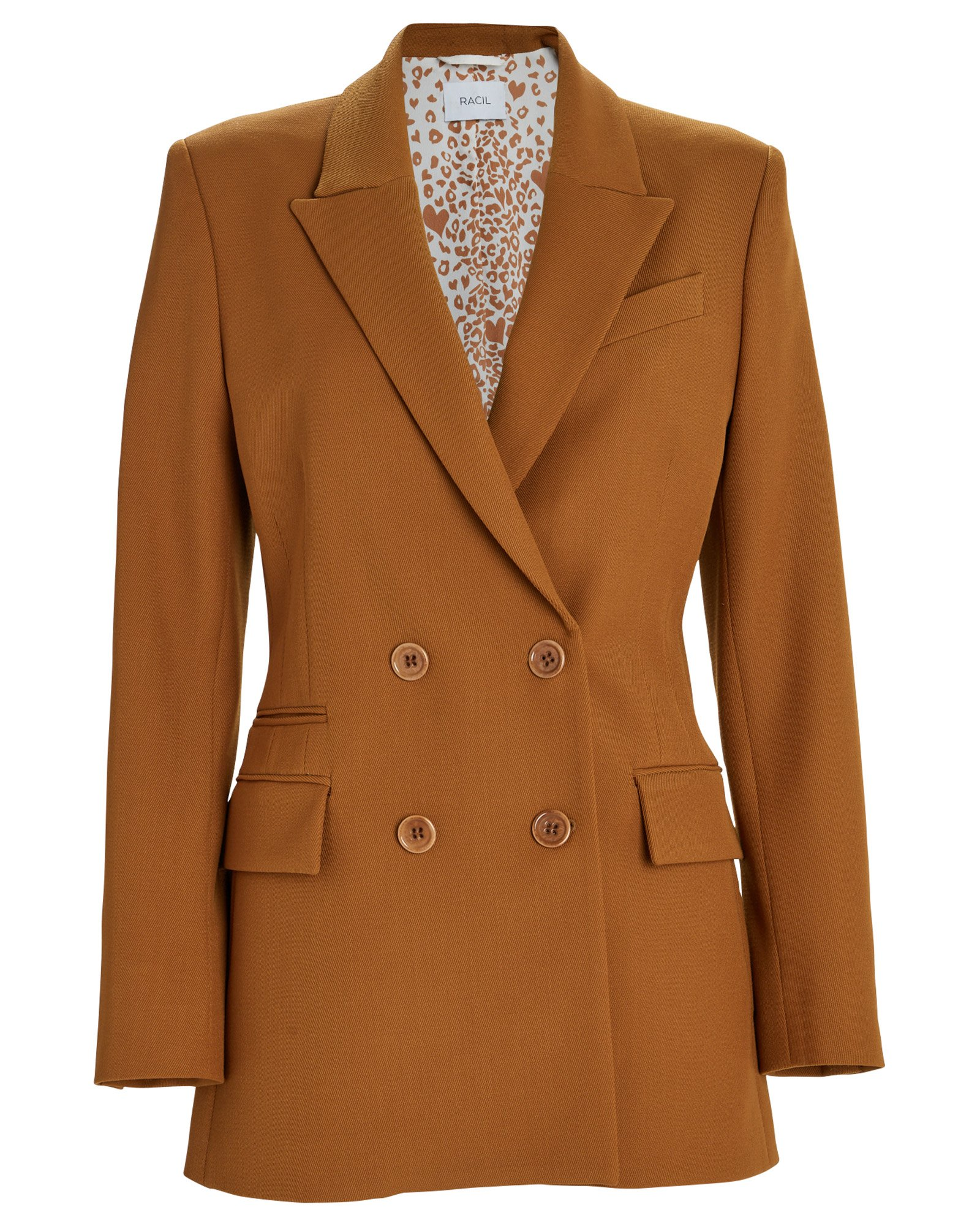 Racil Archie Drill Wool Double Breasted Blazer