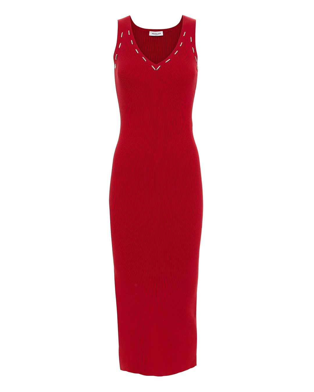 UGLER ETAL DETAIL RED KNIT IDI DRESS RED