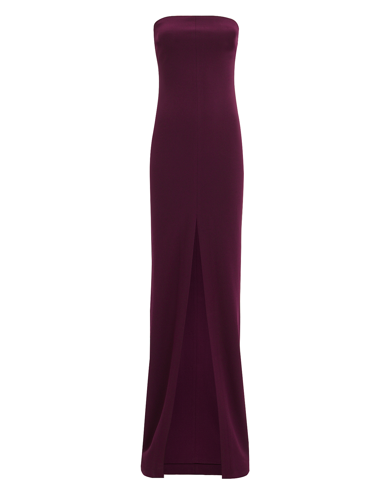 SOLACE London Bysha Aubergine Strapless Gown Aubergine