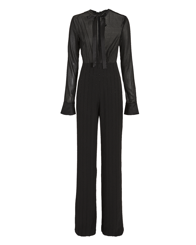 Harvelle Beaded Jumpsuit in Black