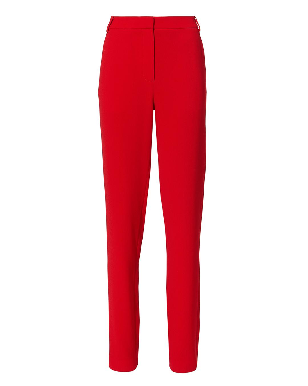 TIBI BEATLE SKINNY PANTS RED