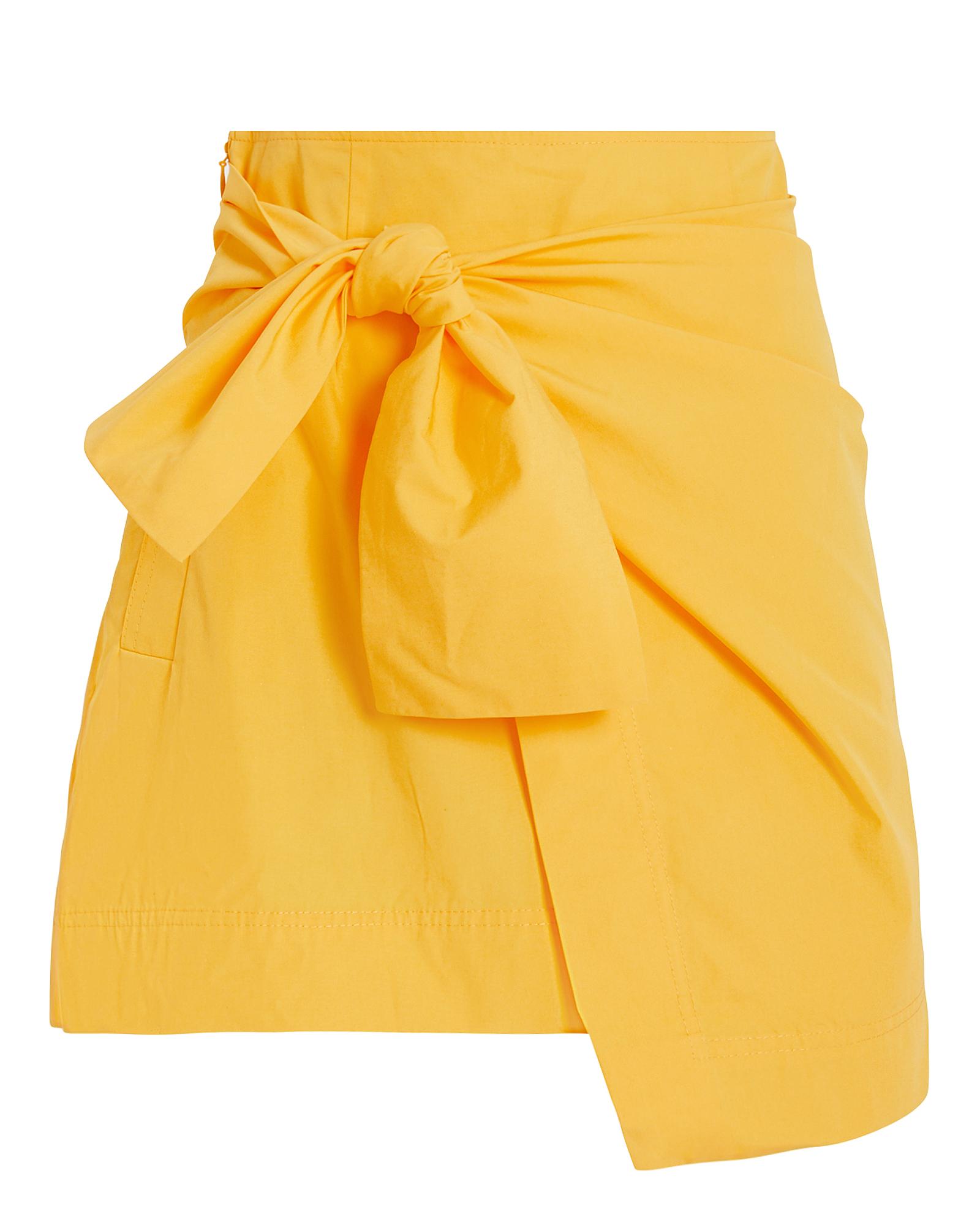 Derek Lam 10 Crosby Skirts DEREK LAM 10 CROSBY KNOTTED WRAP MINI SKIRT  YELLOW 6