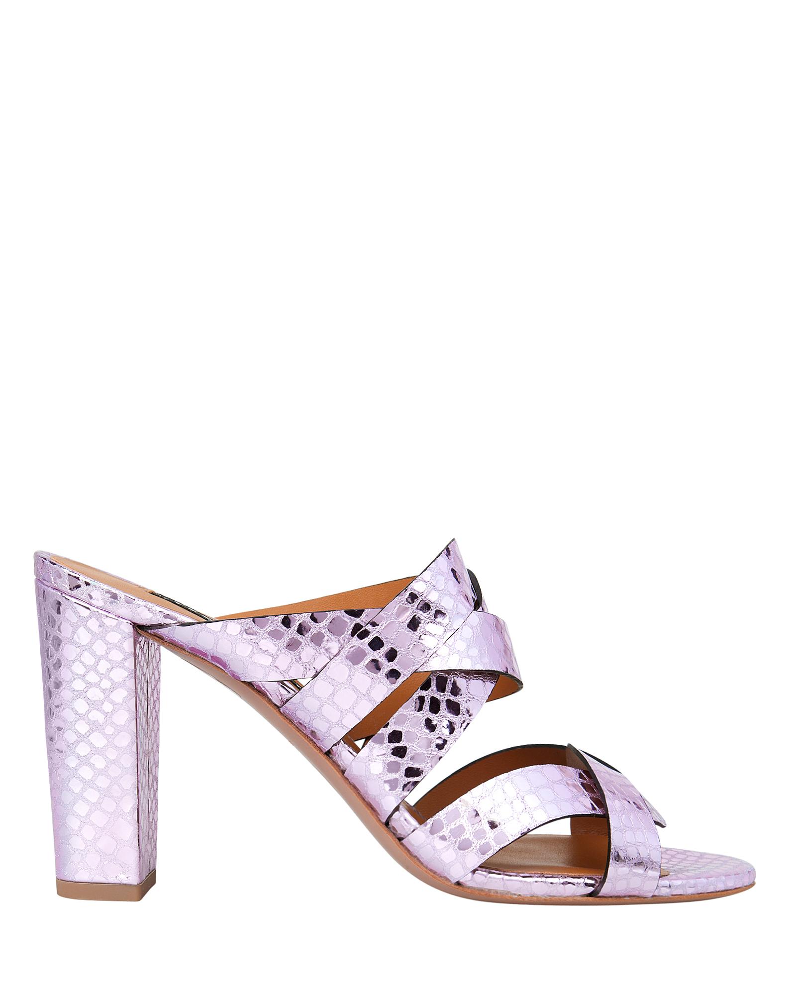 Veronica Beard Sandals Macey Slide Embossed Sandals