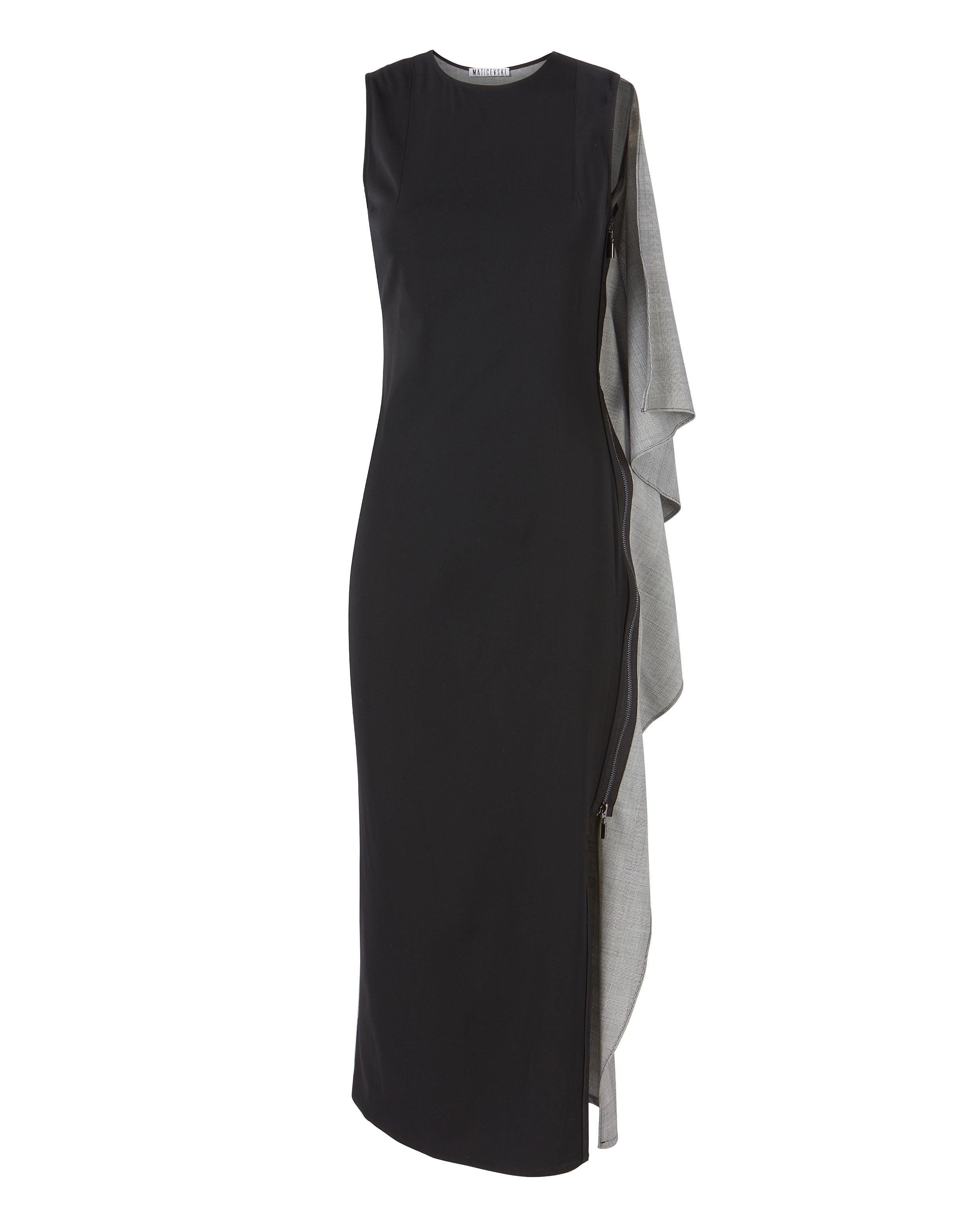 Maticevski Sterling Ruffle Side Dress