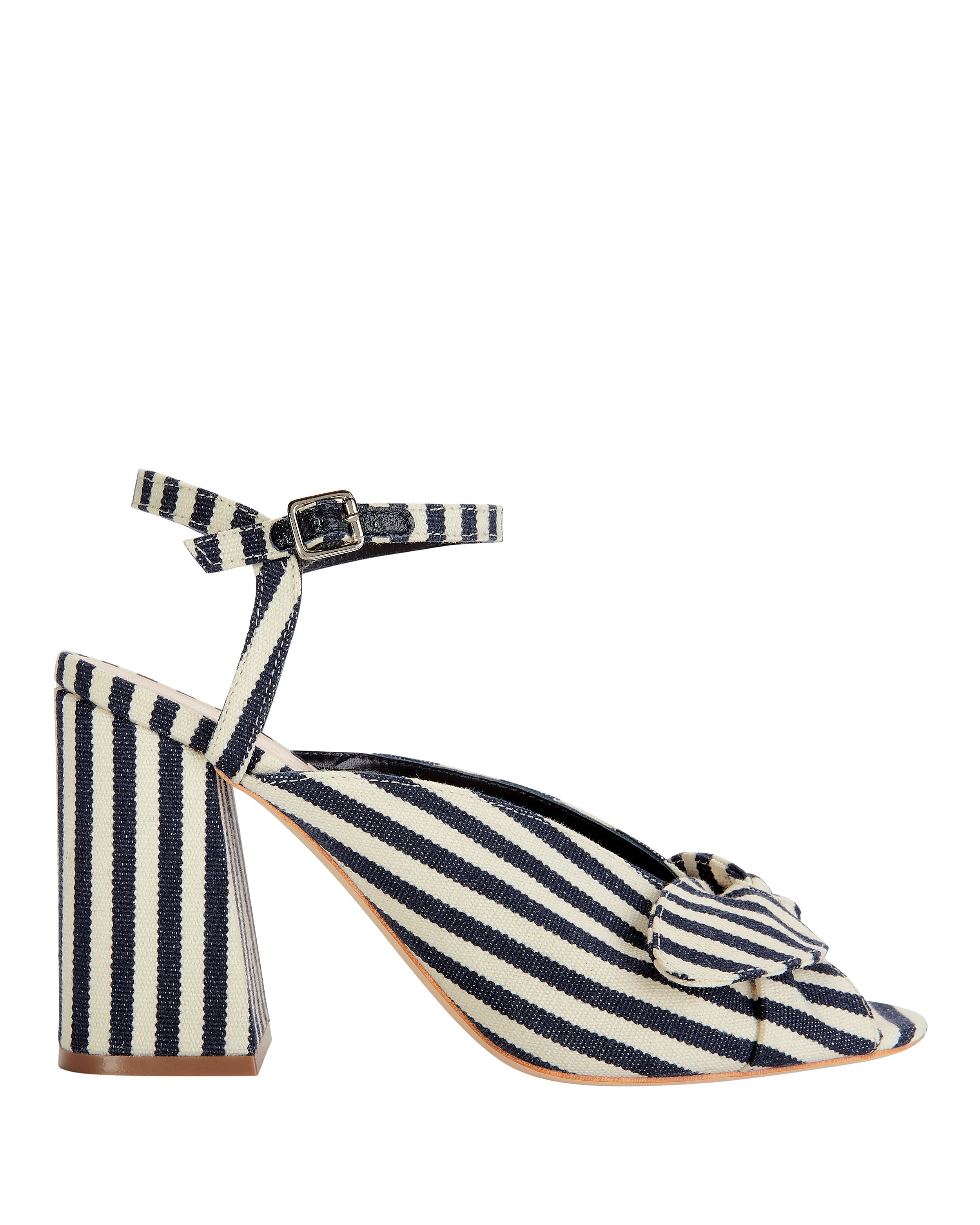 Leigh Bow Stripe Sandals by Loeffler Randall