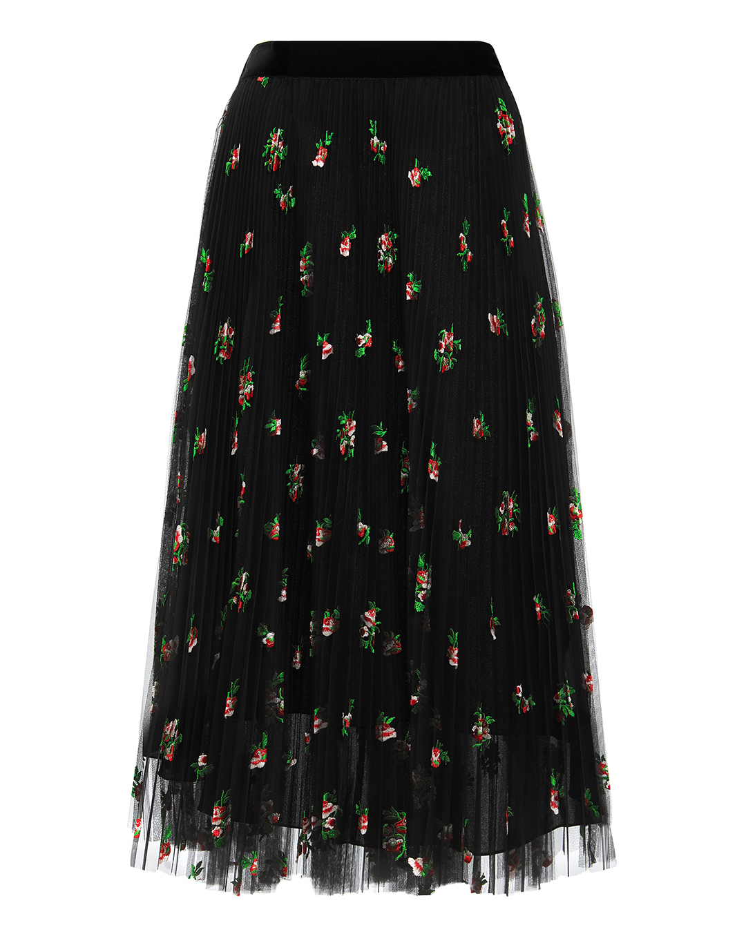 PHILOSOPHY DI L.SERAFINI Floral Tulle Skirt