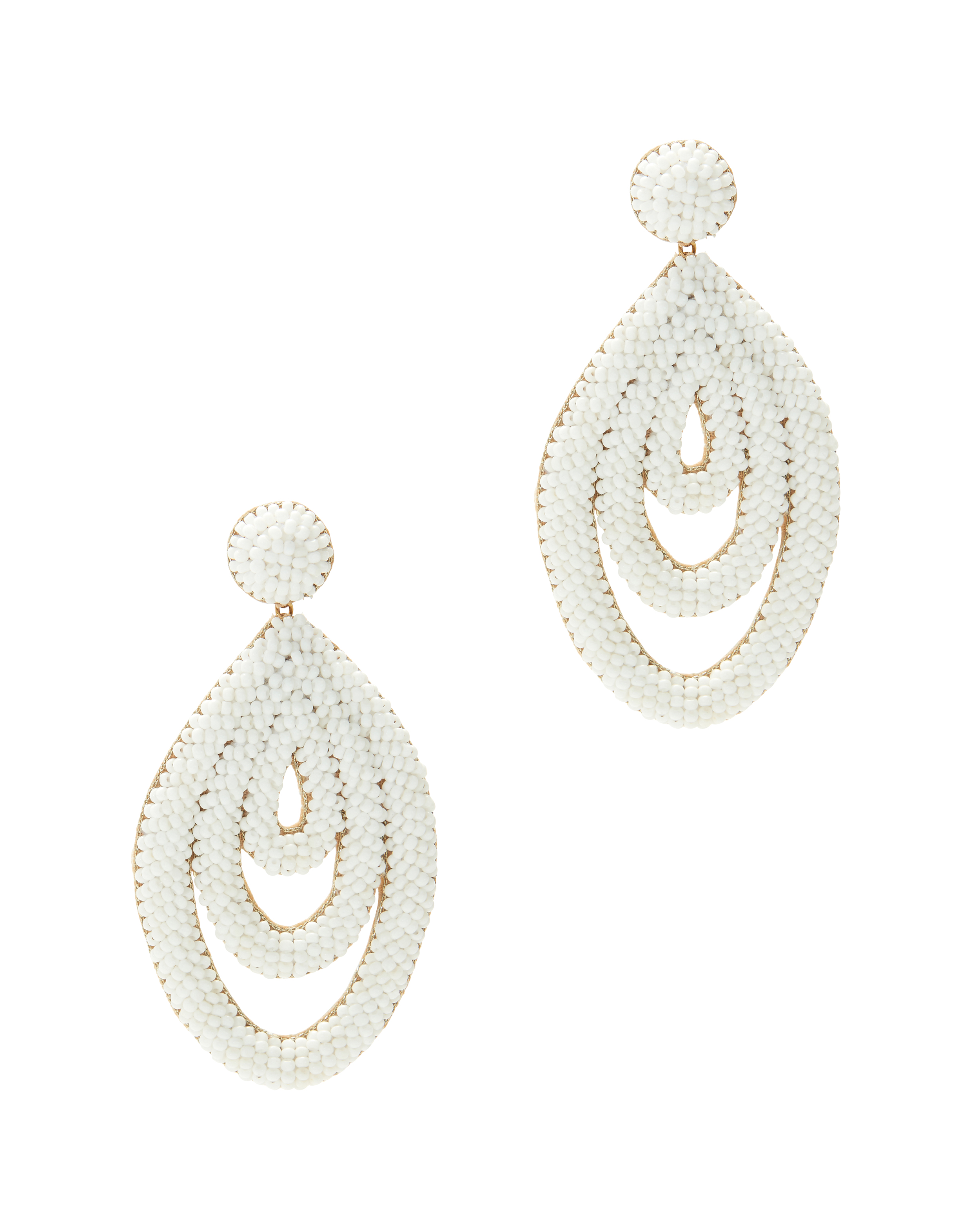 Oval Drop Earrings by Deepa Gurnani