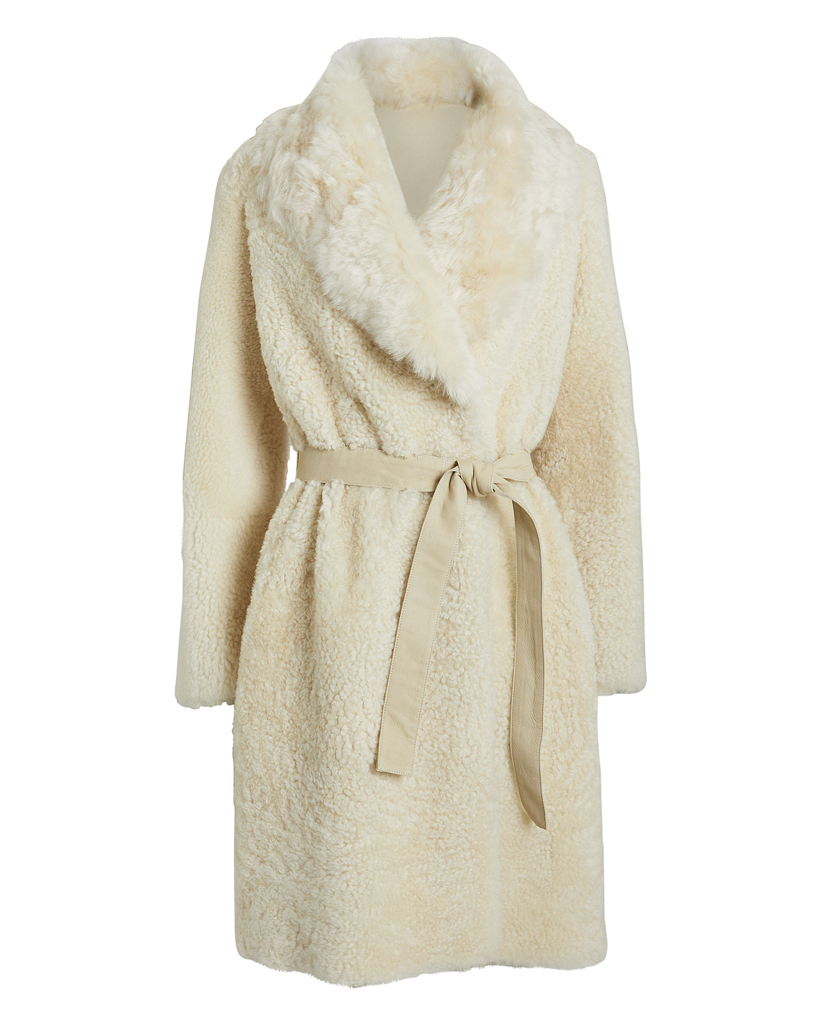 Reversible Shearling Belted Coat by Yves Salomon