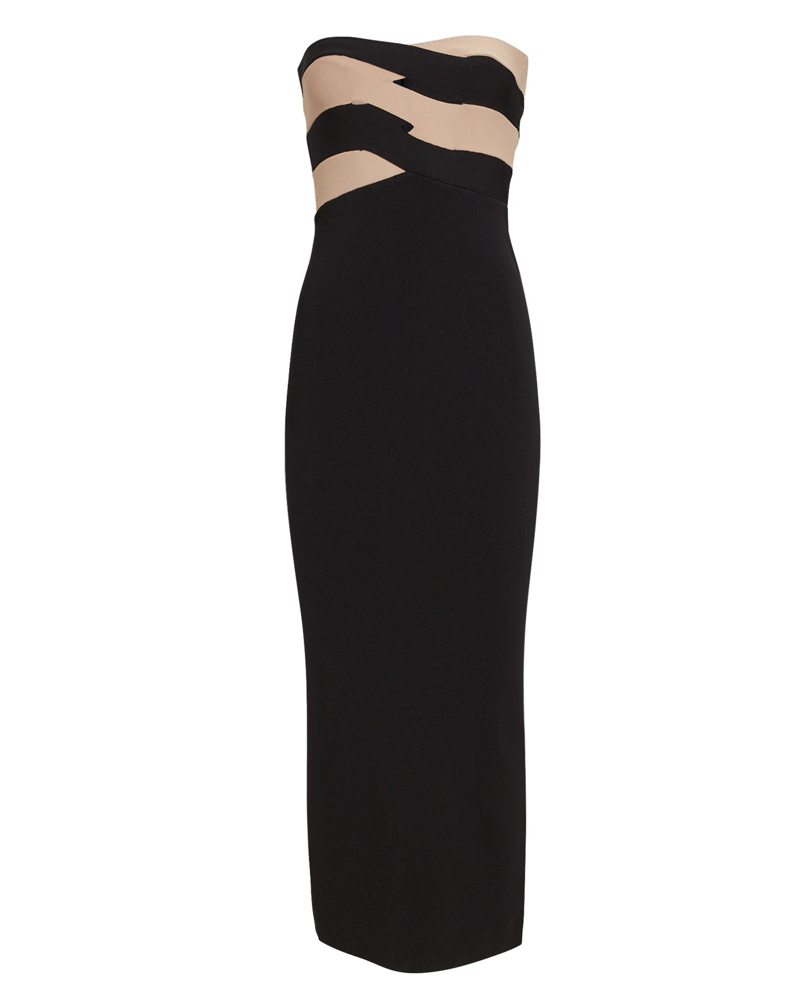 Dion Lee Knits INTERLOCKING KNIT BUSTIER MIDI DRESS