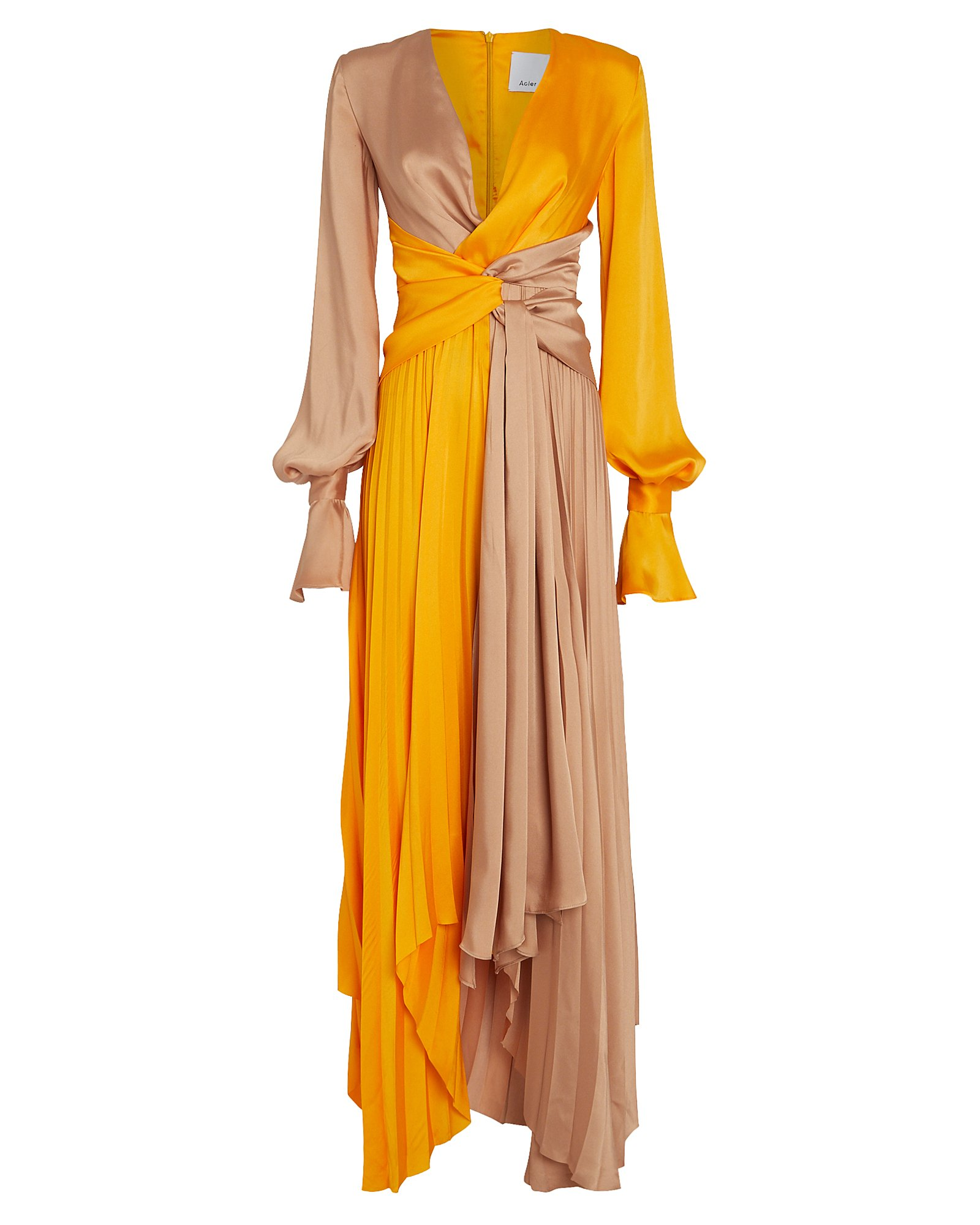 Acler ACLER EMPIRE TWO-TONE TWISTED MAXI DRESS