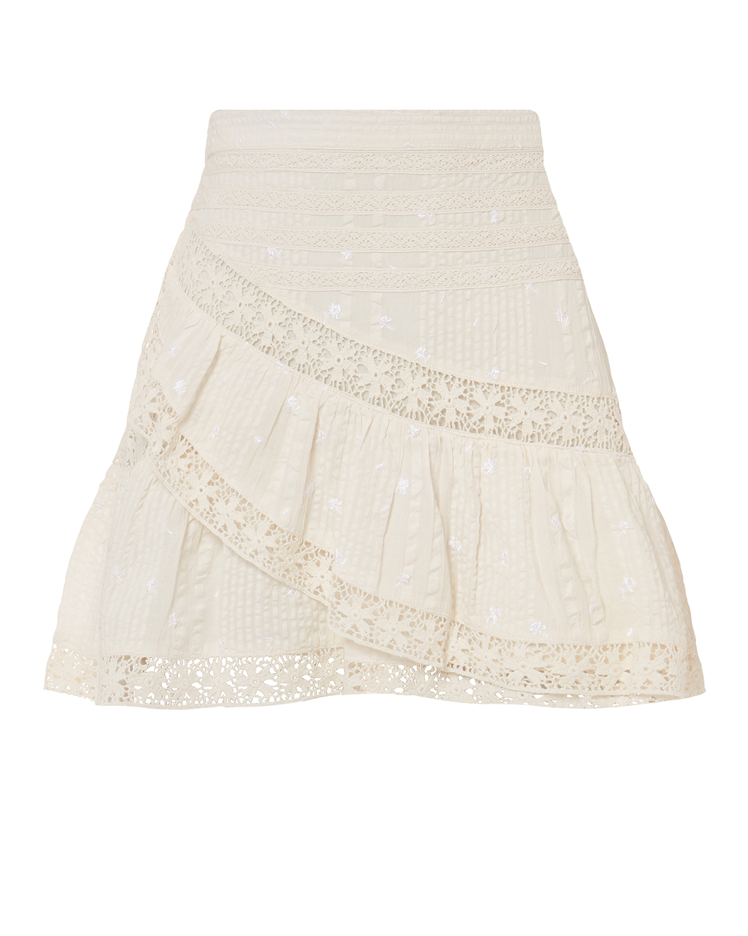 LOVE SHACK FANCY OVESHACKFANCY PIPER ACE MINI SKIRT IVORY