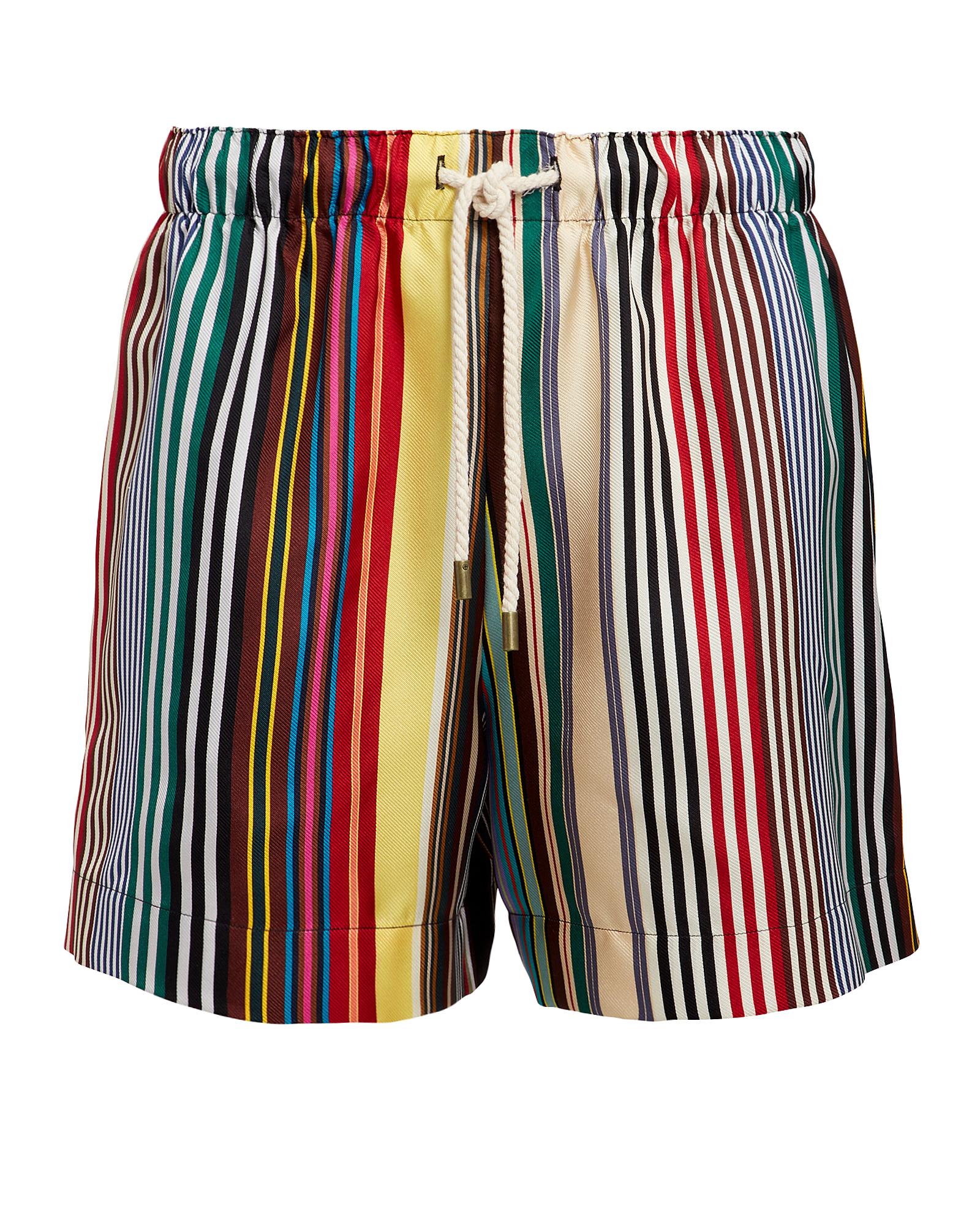 Monse Shorts Rainbow Striped Shorts