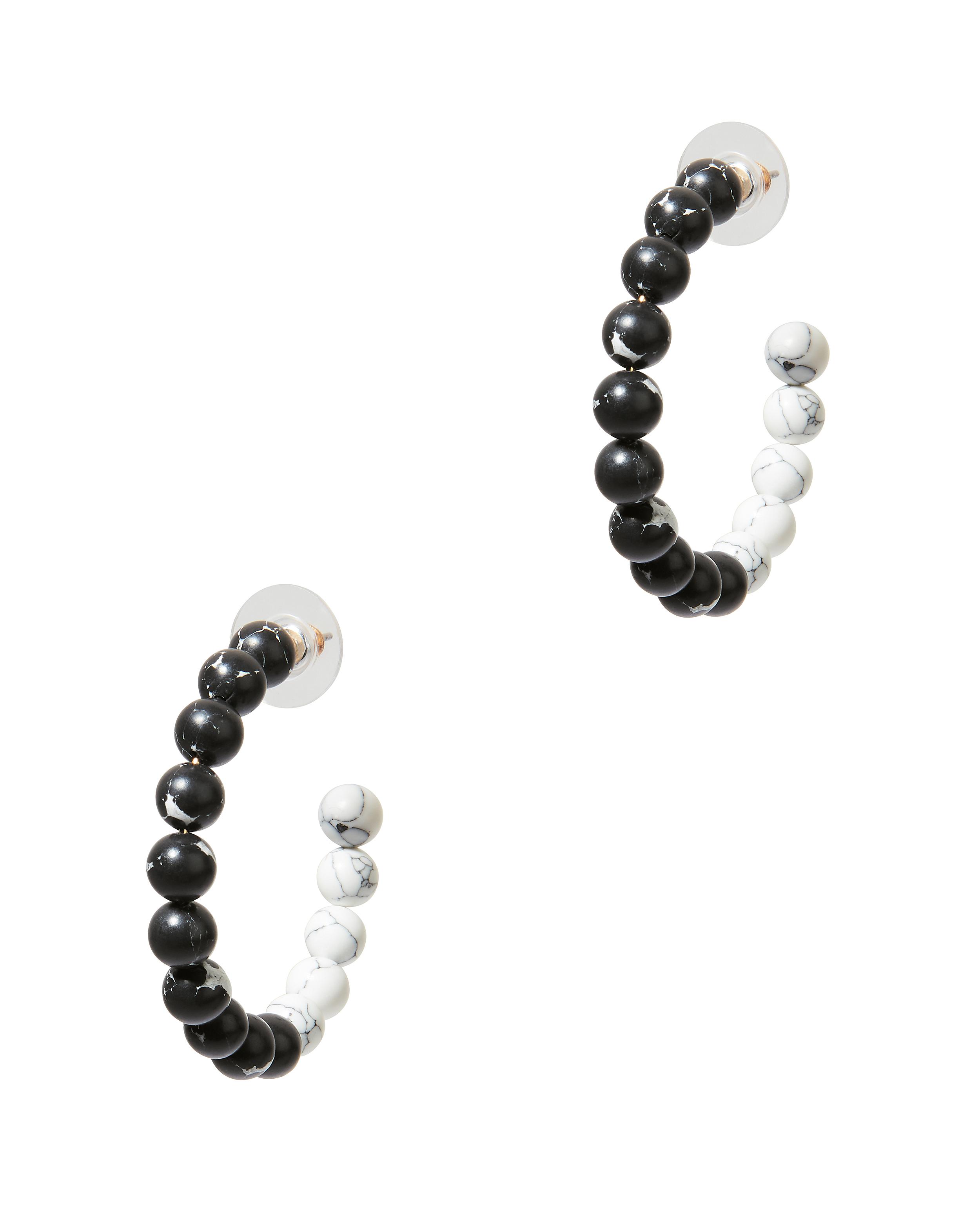 LELE SADOUGHI Stone Hoop Earrings in Marble
