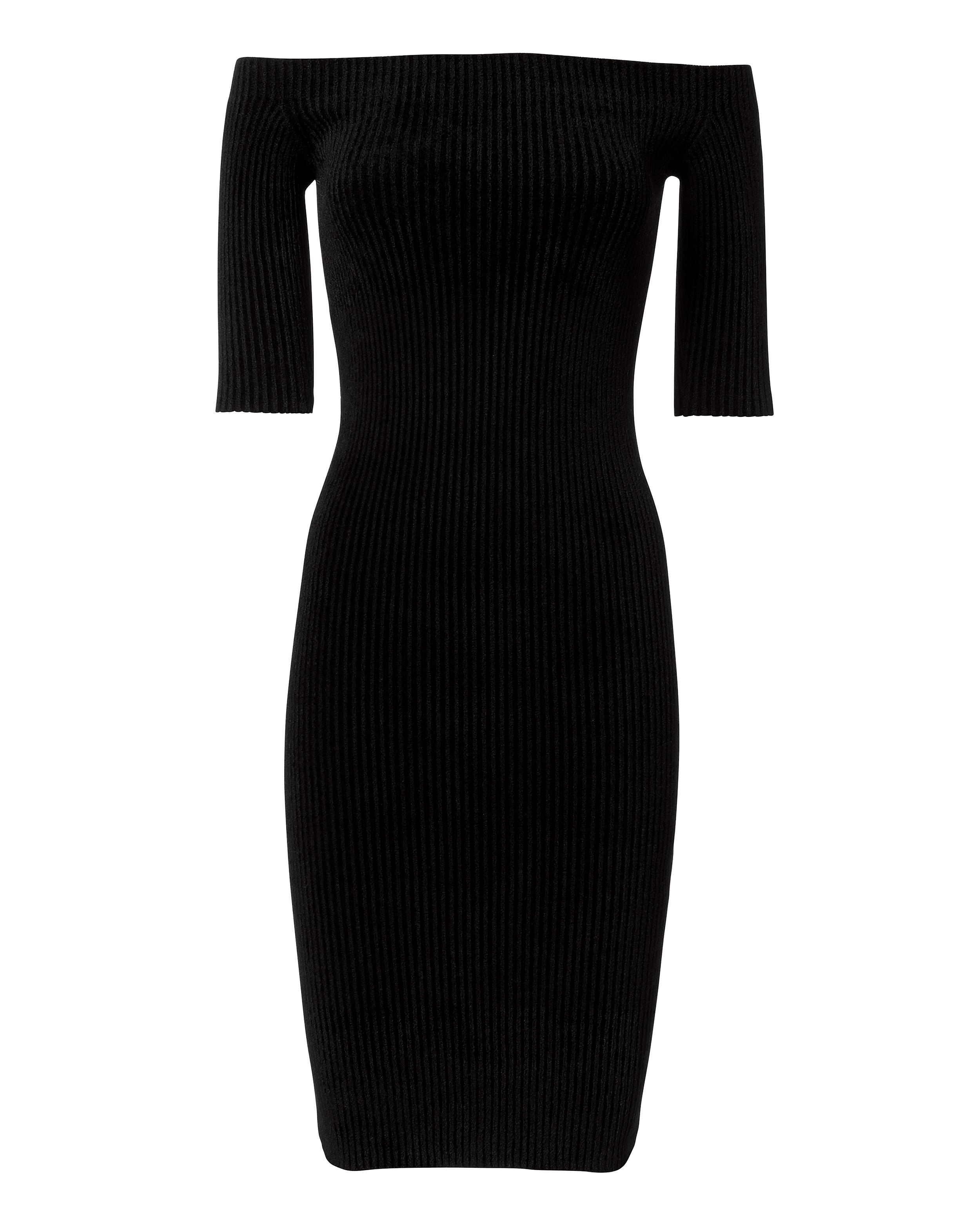 Off Shoulder Dress by Helmut Lang