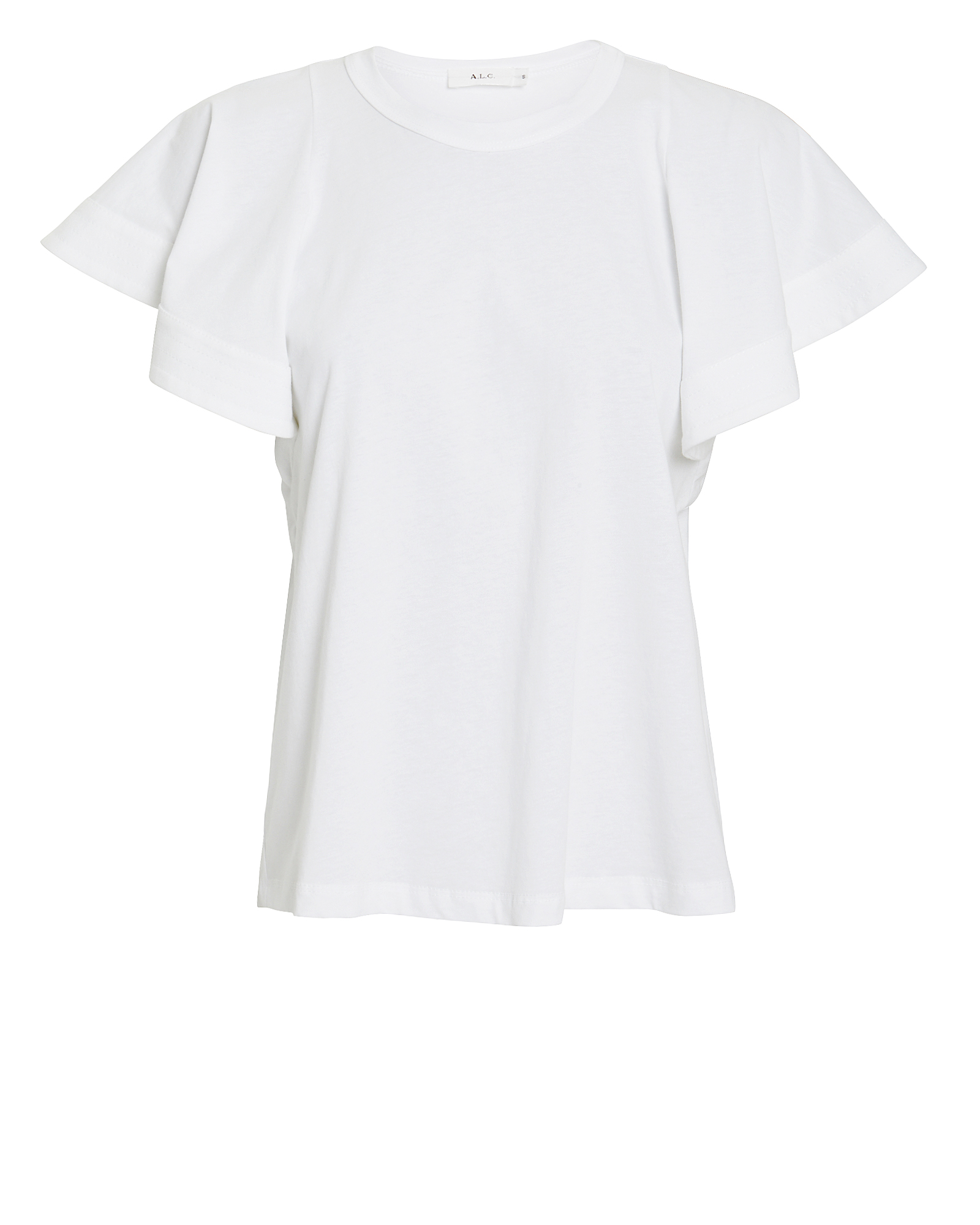A.l.c T-shirts A.L.C. CARRIE RUFFLED JERSEY T-SHIRT  WHITE S