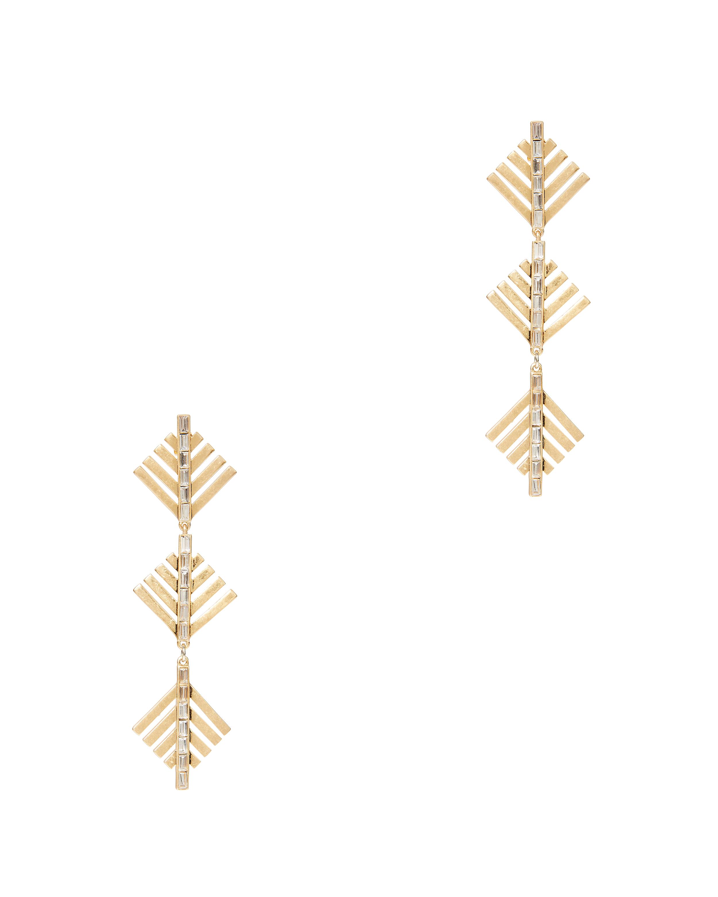 LULU FROST Cascadia Pine Drop Earrings in Gold