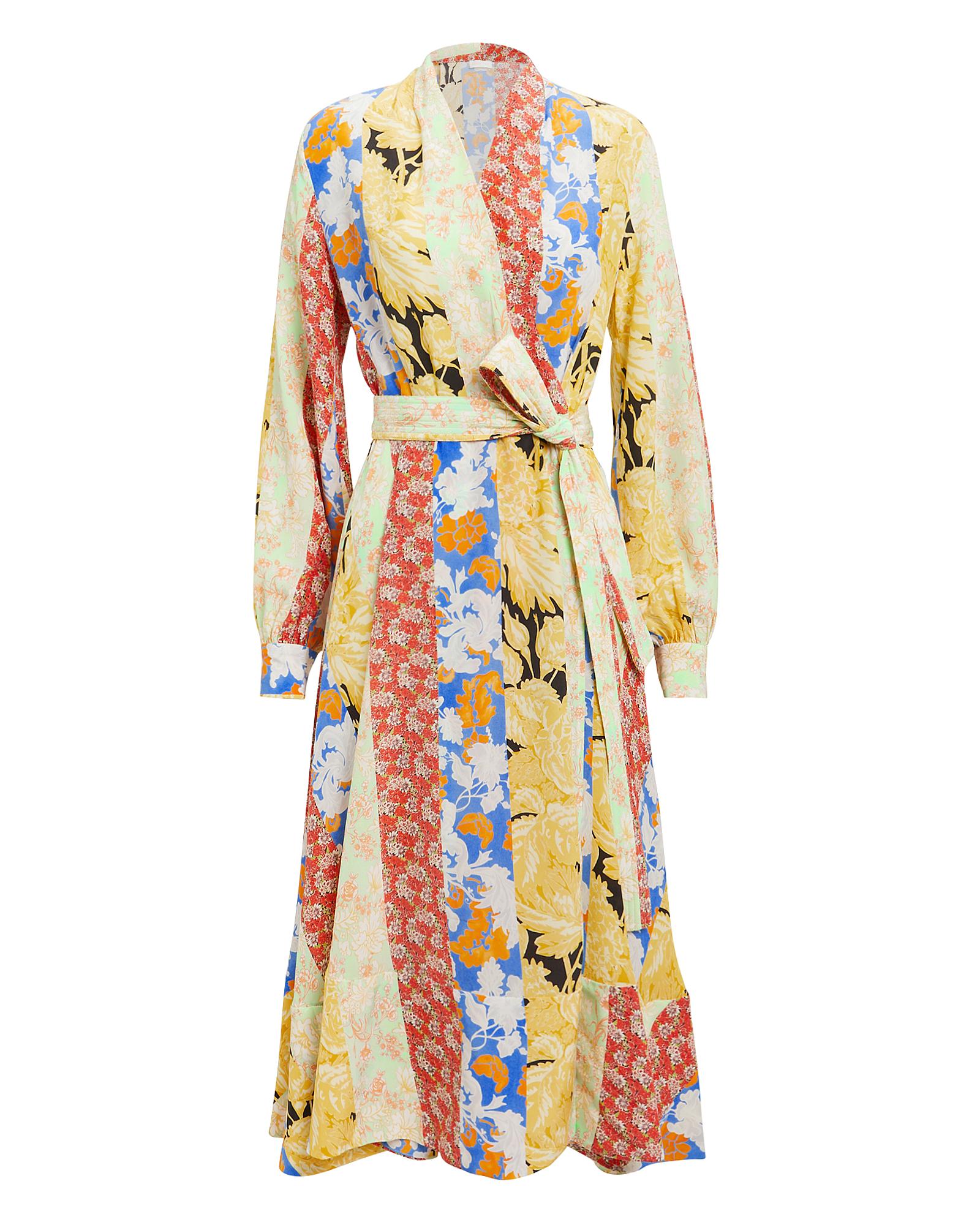 Stine Goya Dresses STINE GOYA REFLECTION WALLPAPER DRESS  YELLOW/FLORAL S