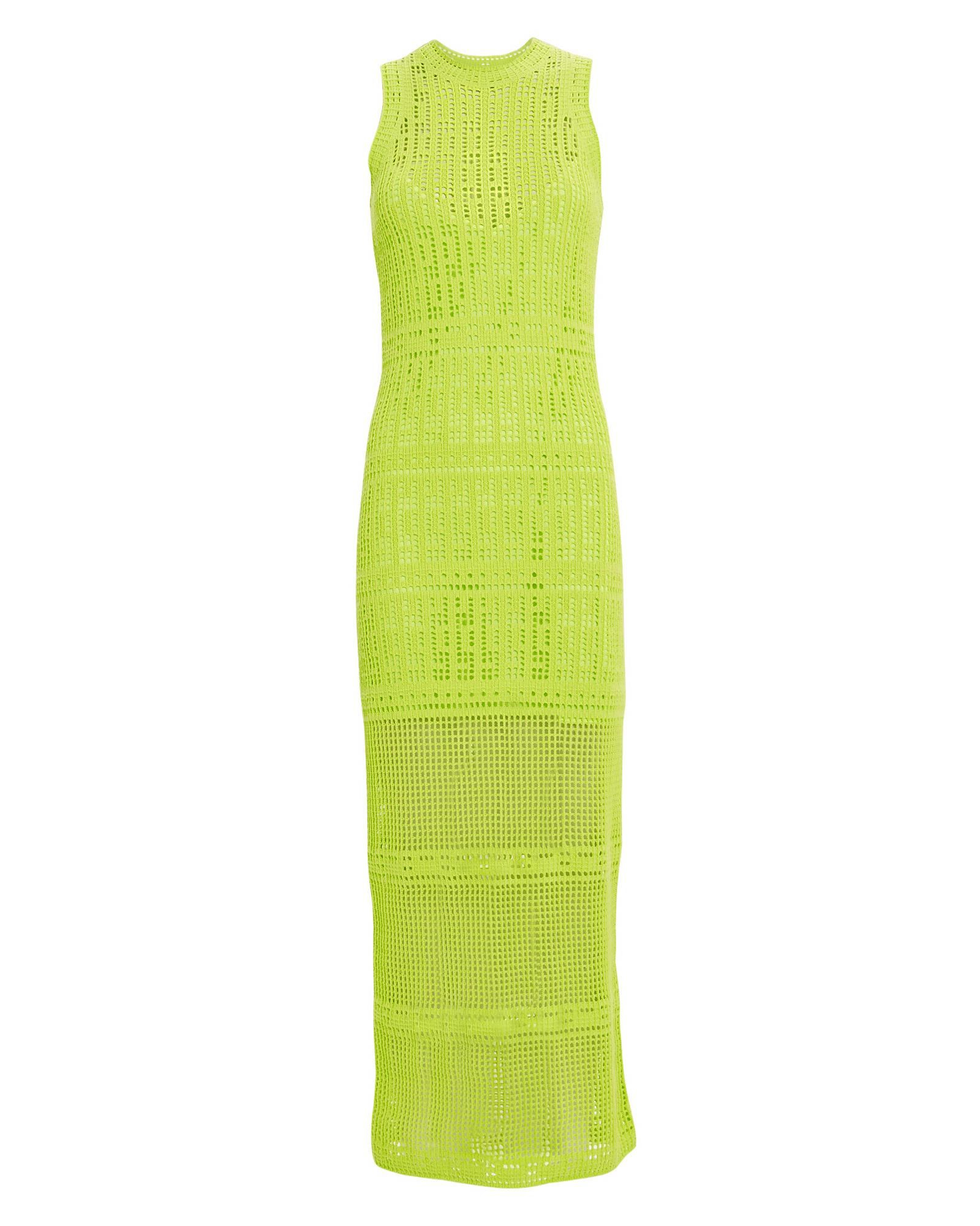 A.l.c Dresses A.L.C. MONAGHAN EYELET SHEATH DRESS  YELLOW XL