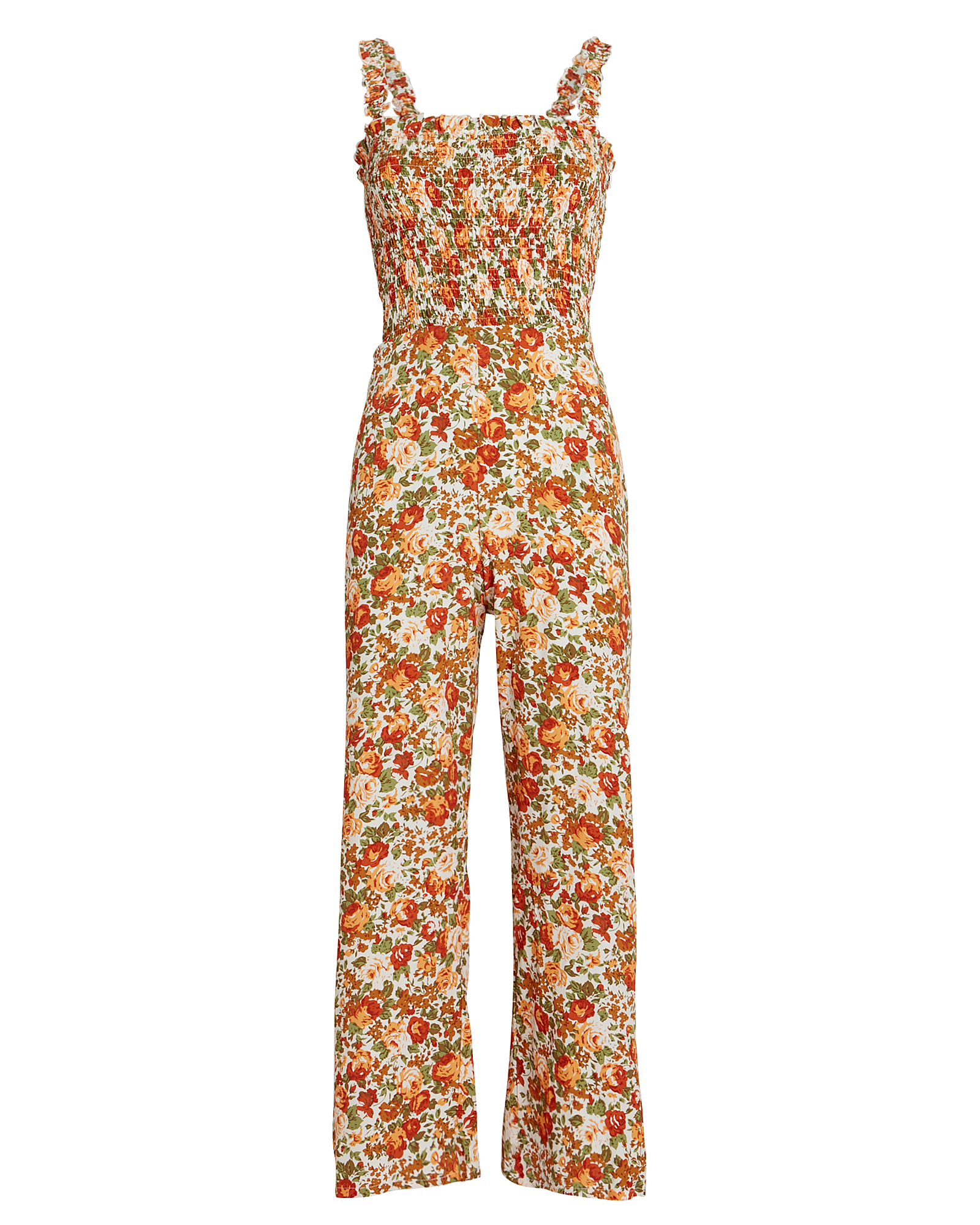 Faithfull The Brand Suits FAITHFULL THE BRAND BERNARD FLORAL JUMPSUIT  APRICOT/FLORAL L